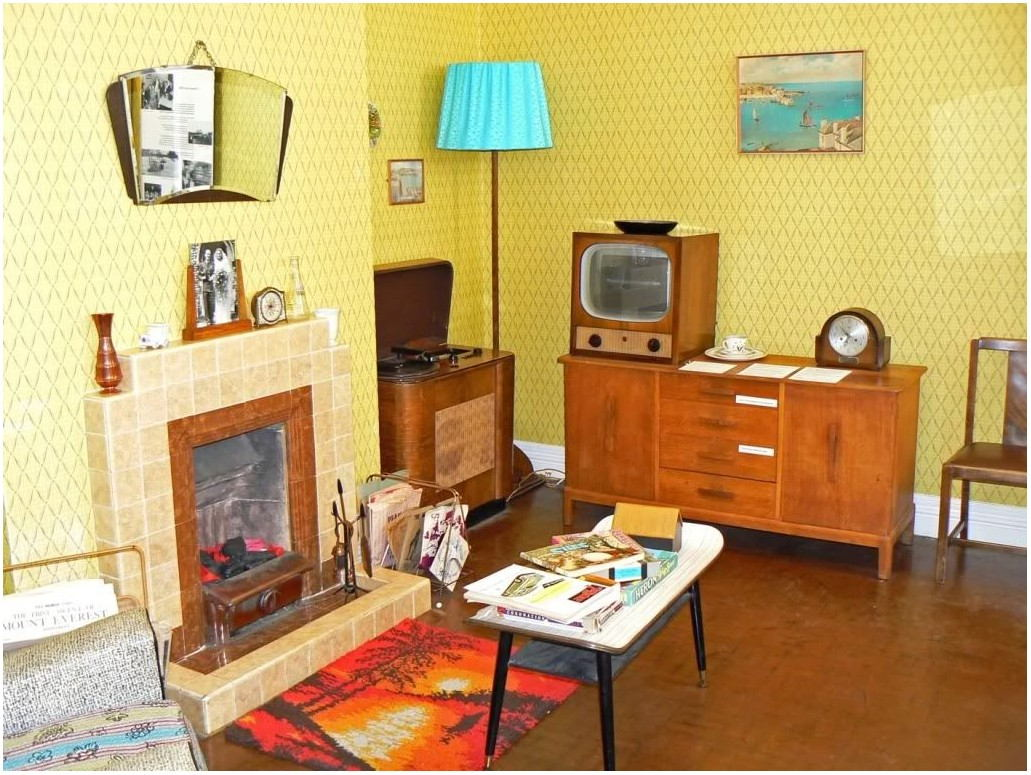 1950s Living Room Interior