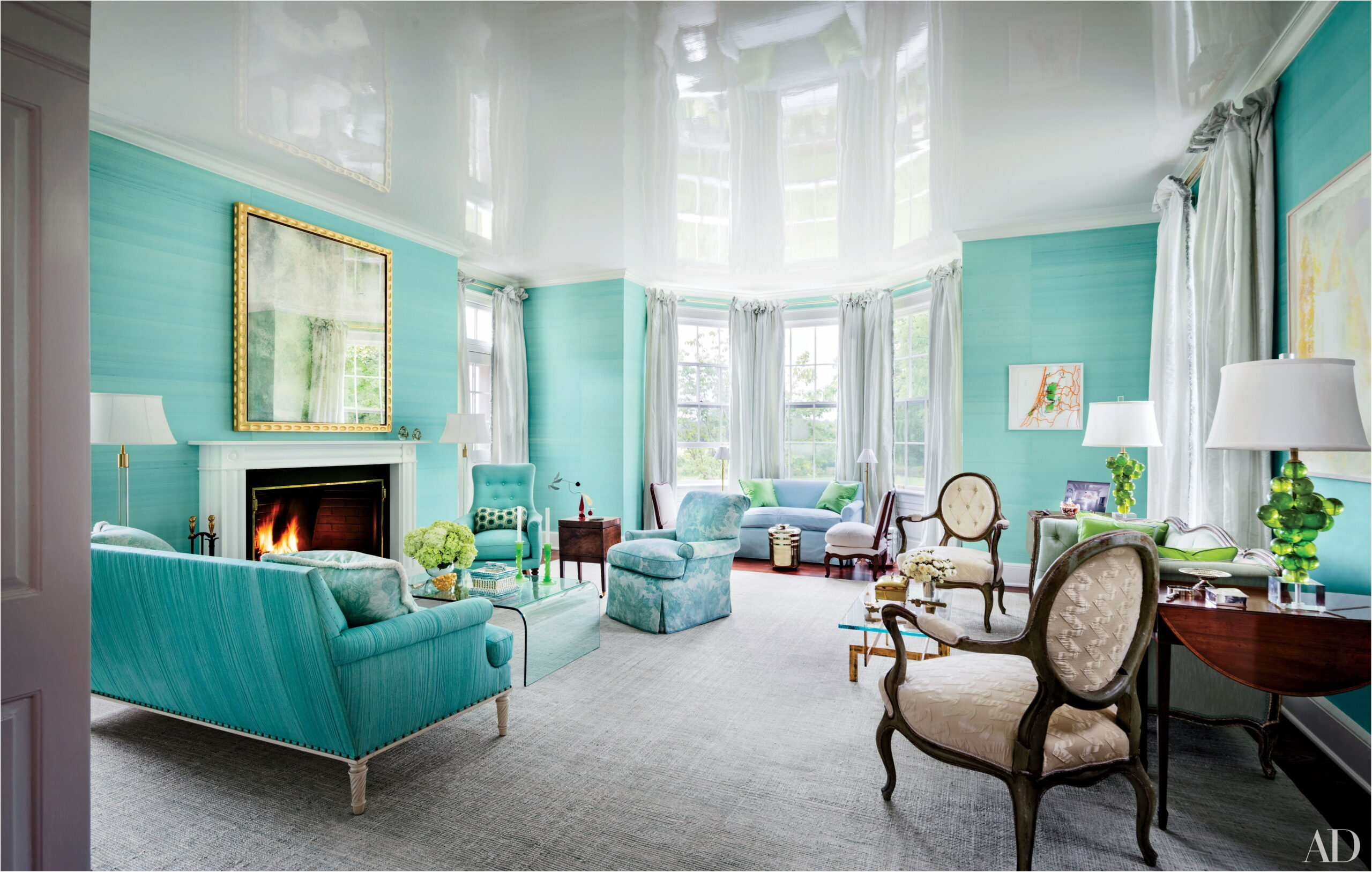 Aquamarine Paint Living Room