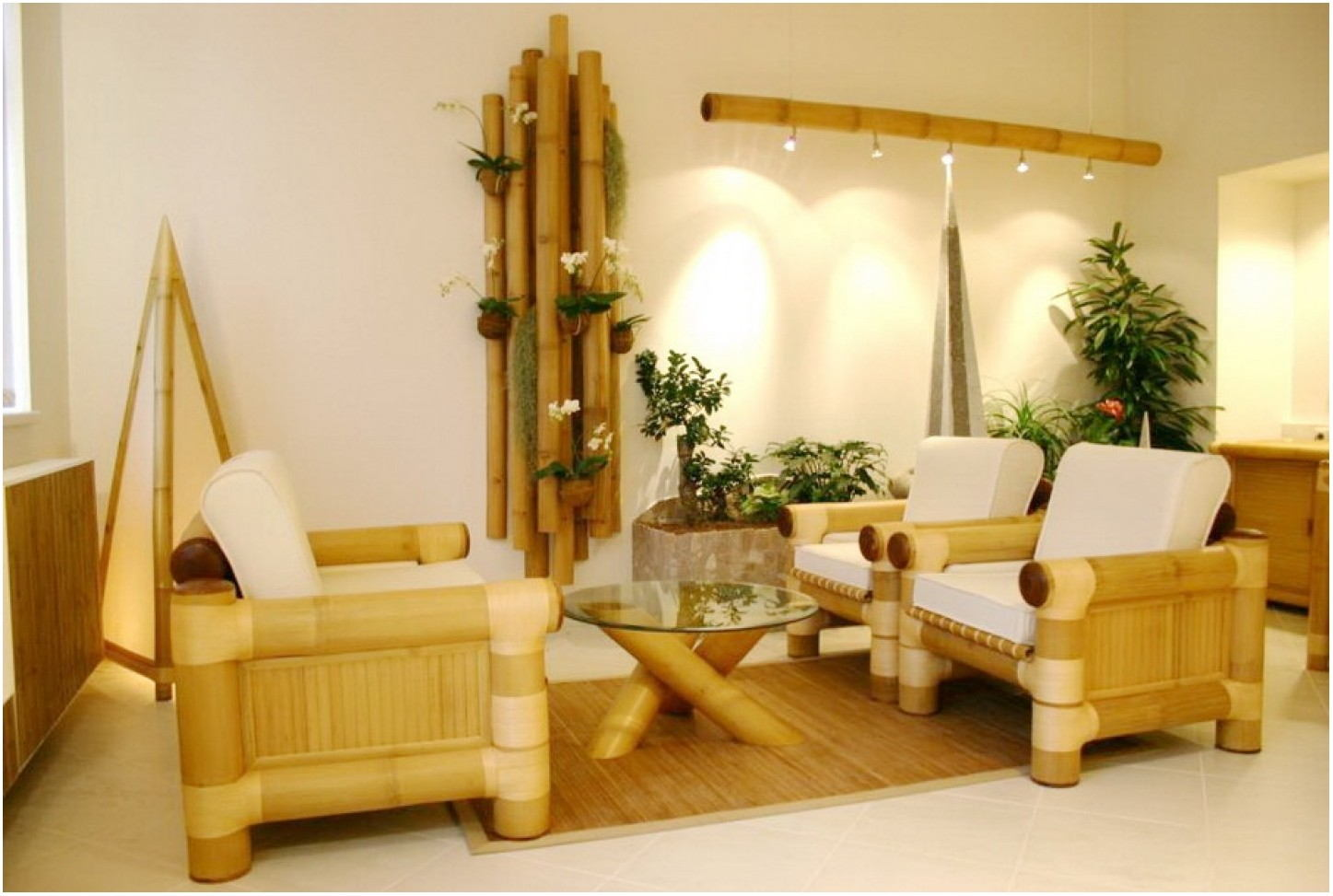 Bamboo Living Room Interior Design