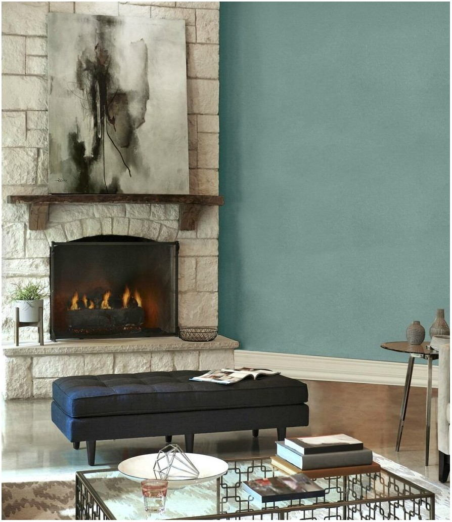 Behr Paint Living Room With Stone Fireplace
