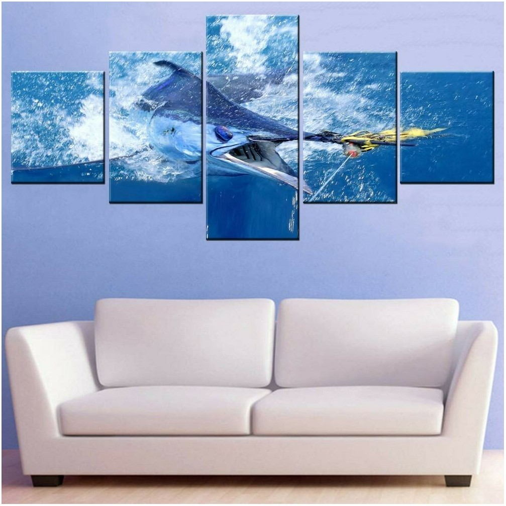 Big Paintings For Living Room Blue Sea