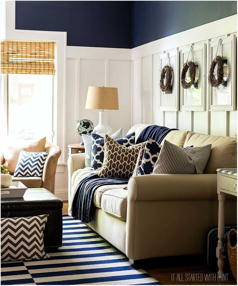 Blue And Brown Living Room Paint