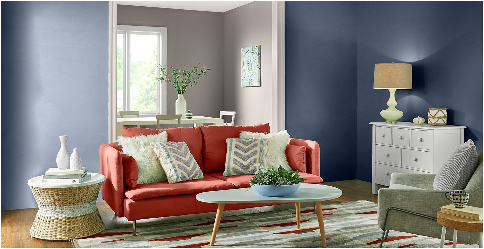 Bold Living Room Paint