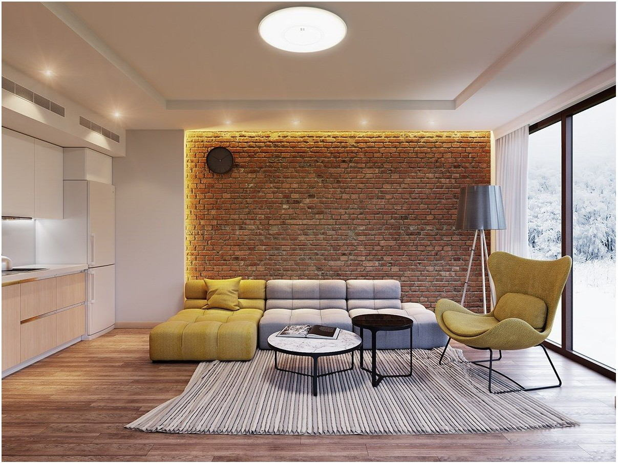 Brick Wall Interior Design Living Room