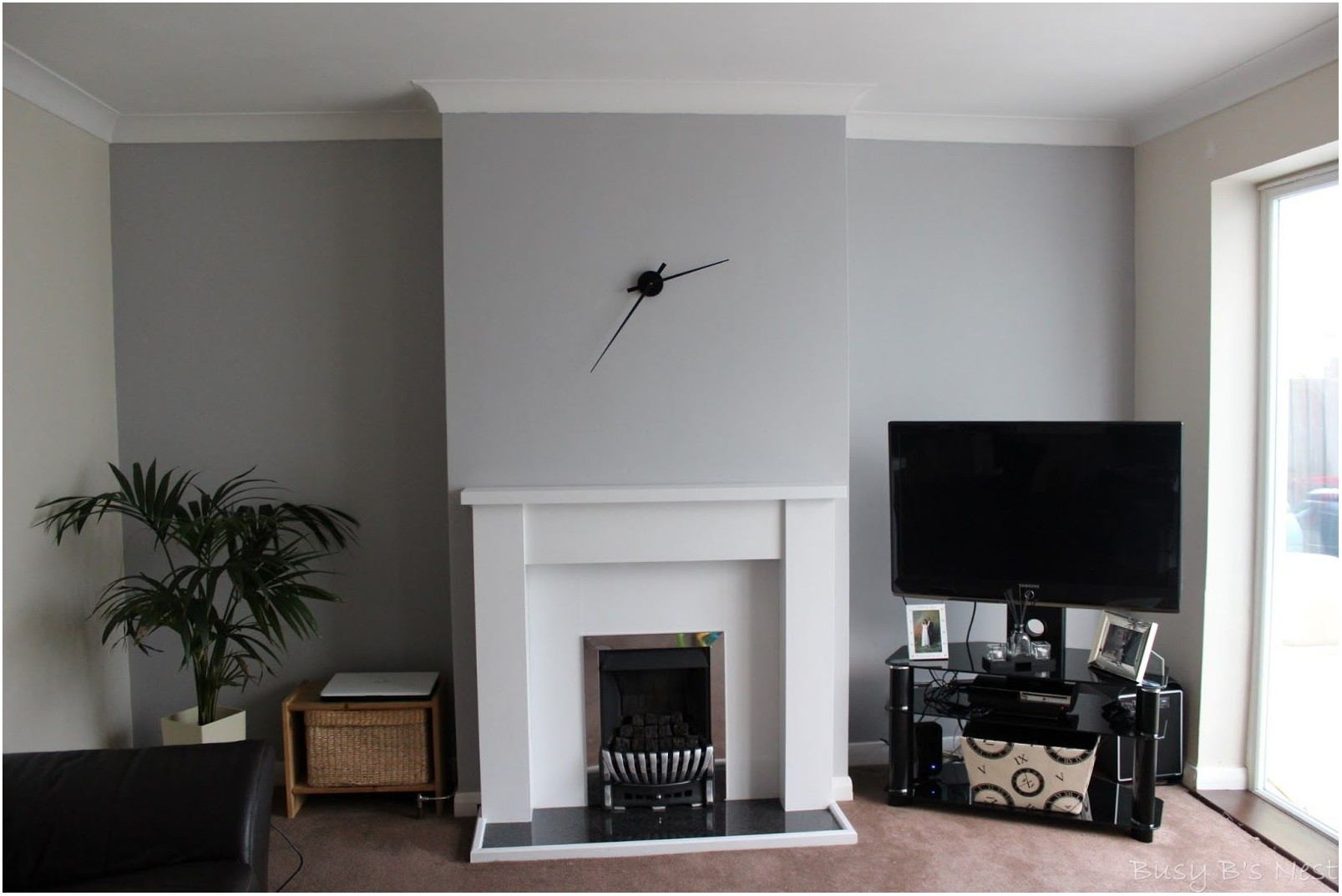 Chic Grey Paint Living Room