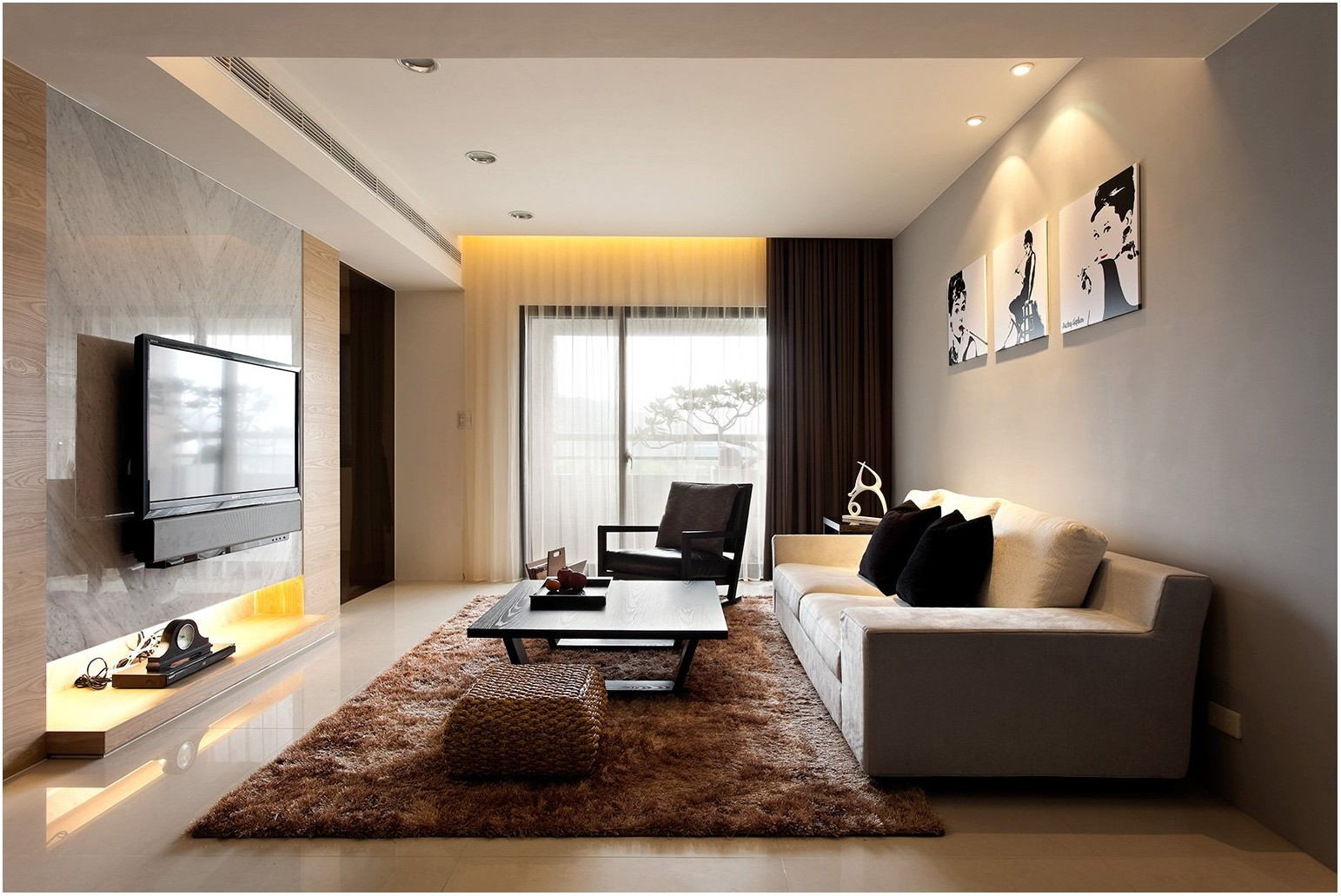 Contemporary Decorating Living Room Interior