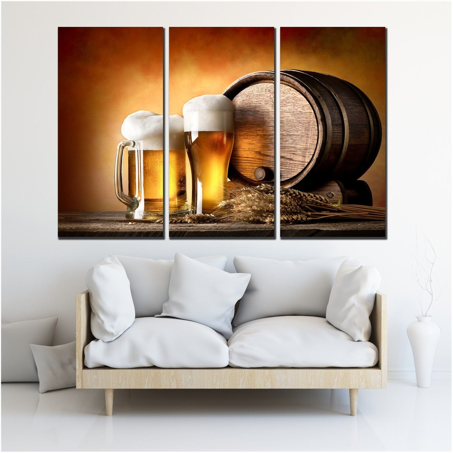 Cool Oil Painting Living Room