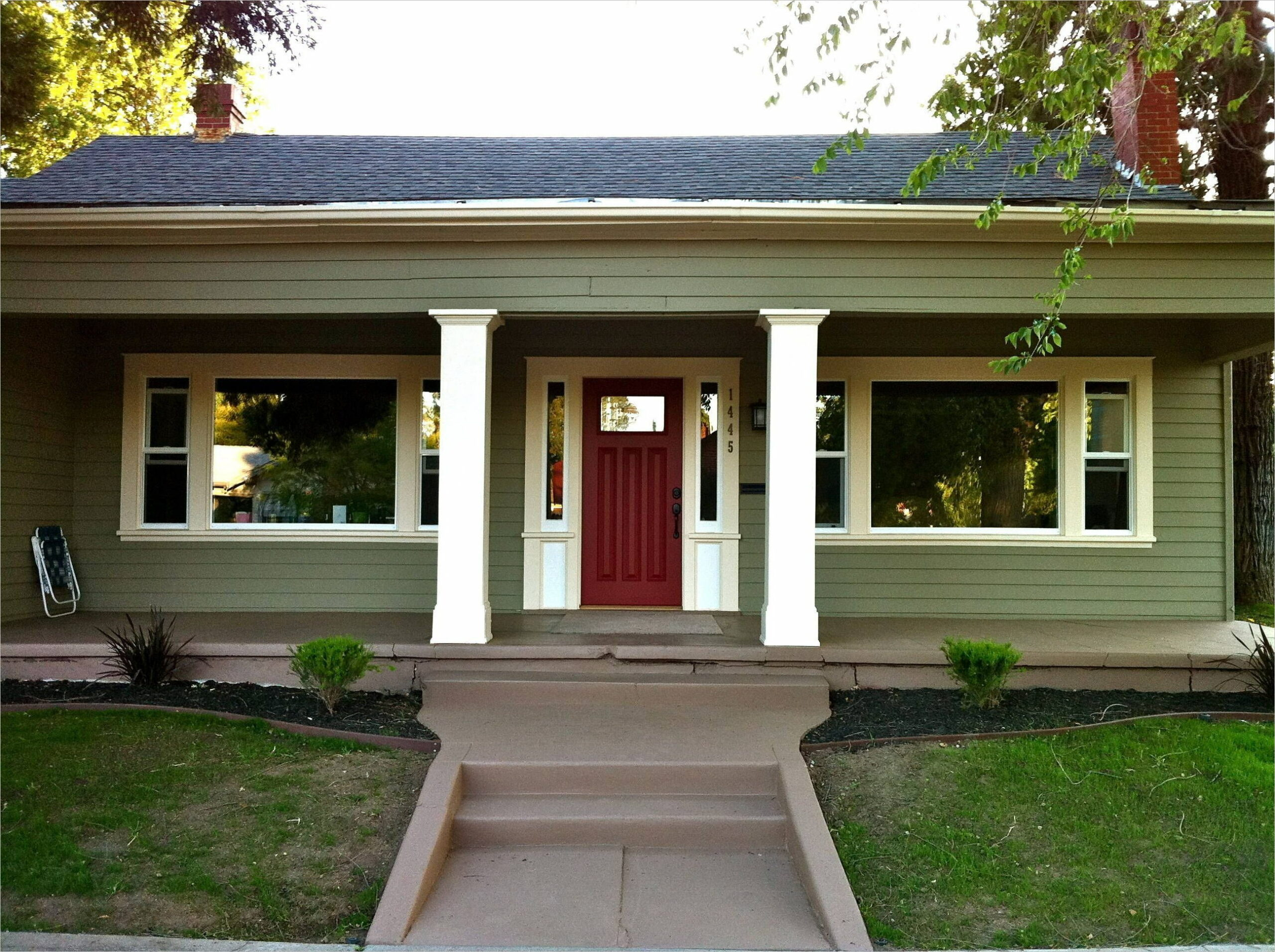 Exterior House Paint Ideas Green