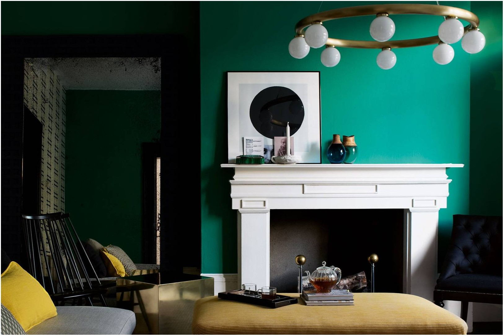 Green Paint Living Room Walls