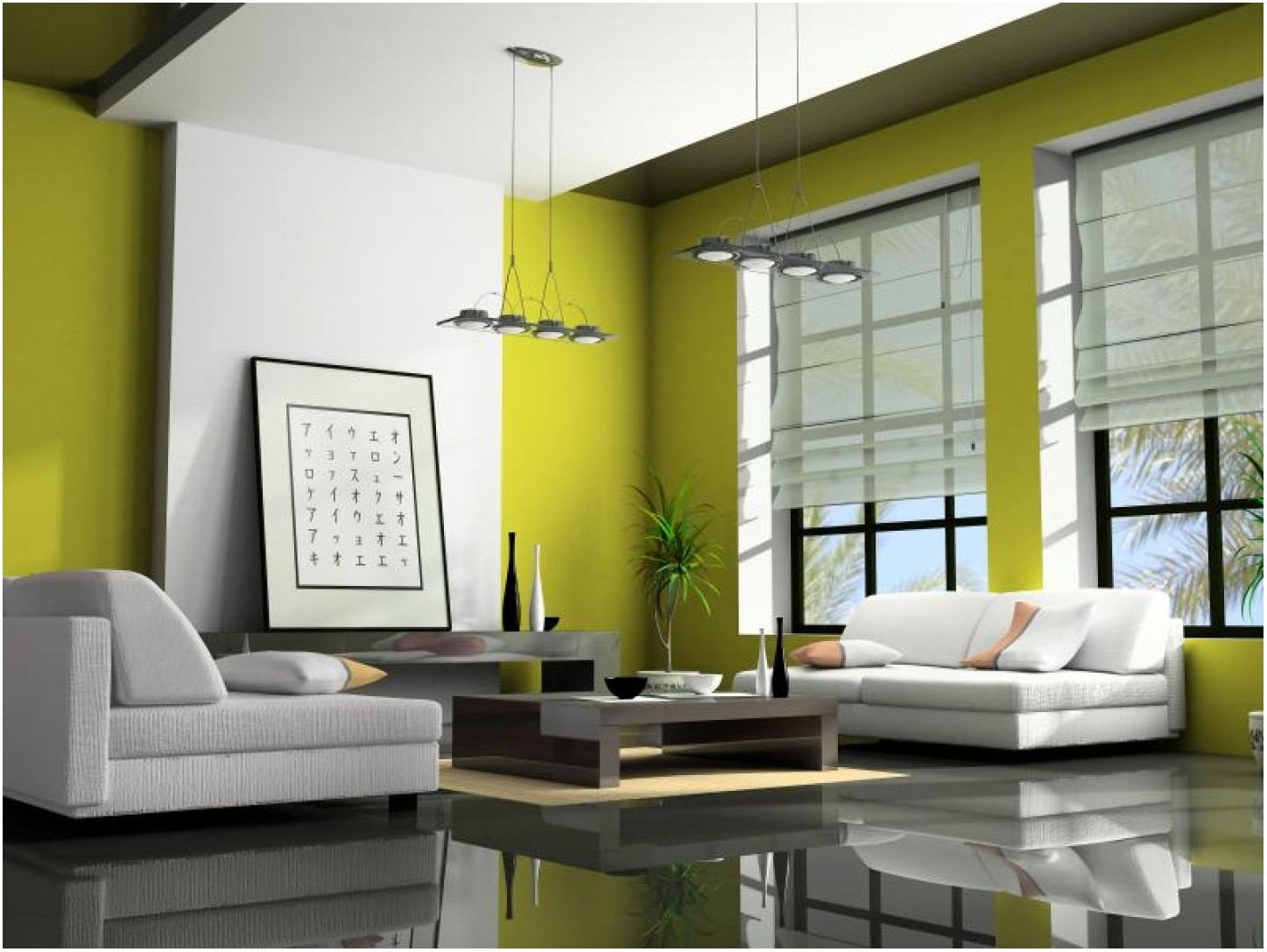 Green Wall Paint Living Room