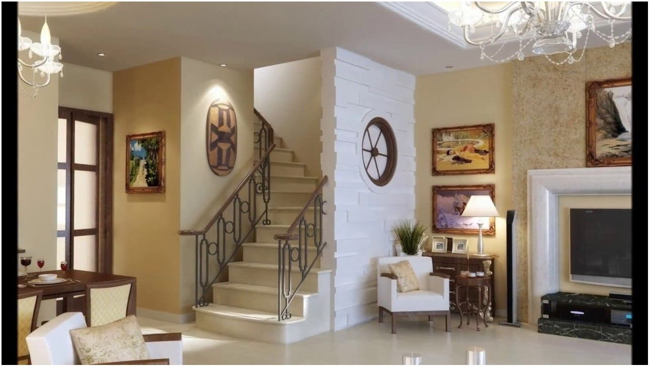 Home Interior Design Living Room With Stairs