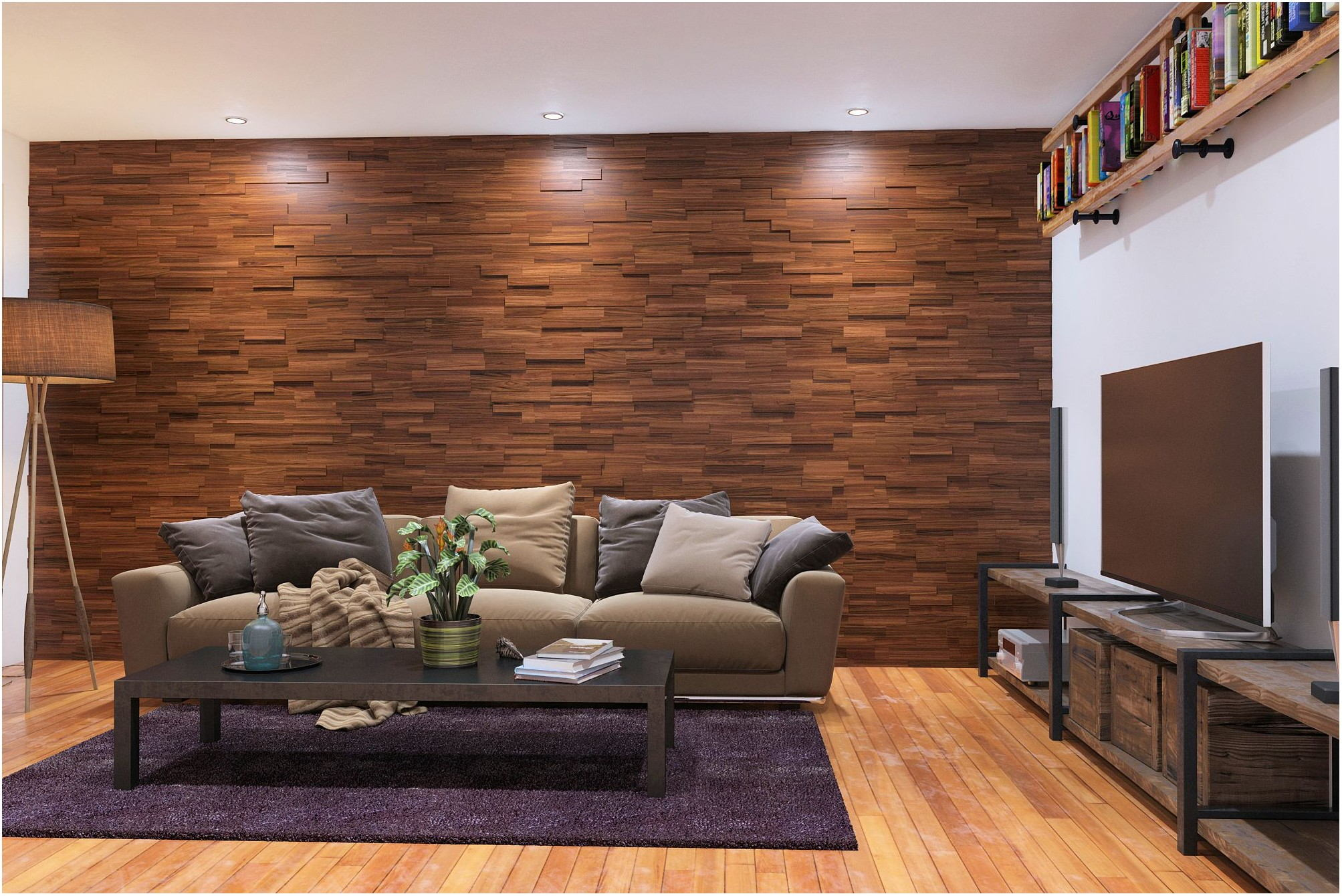 Interior Design Living Room Wall Paneling