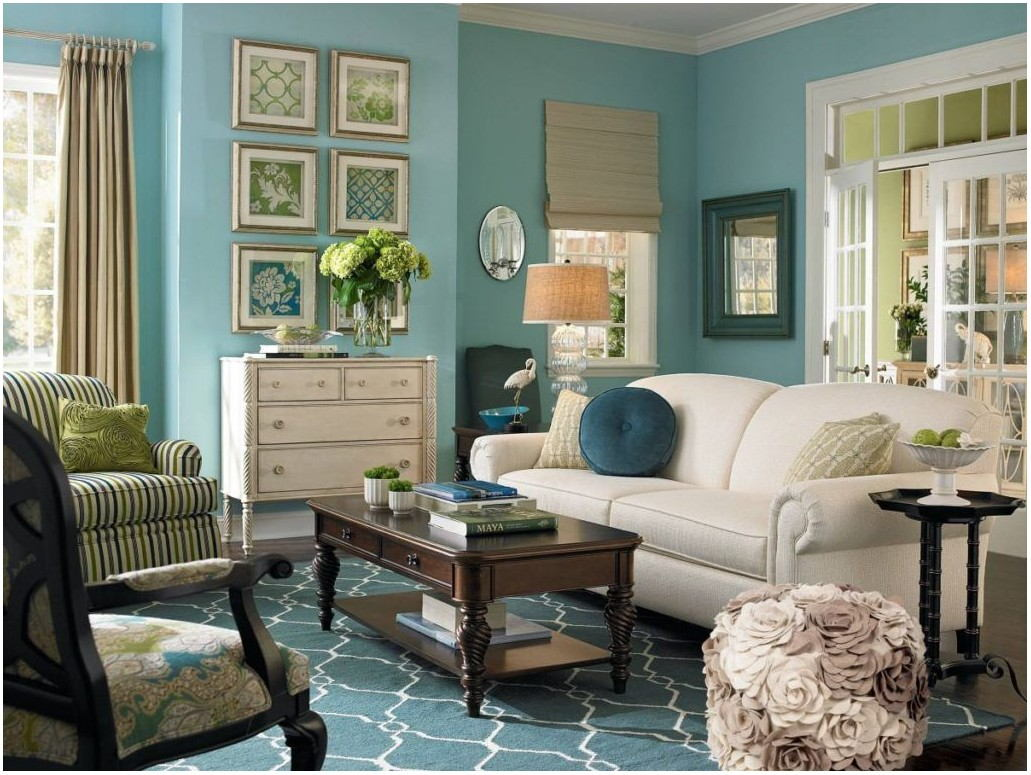 Light Teal Wall Paint Living Room
