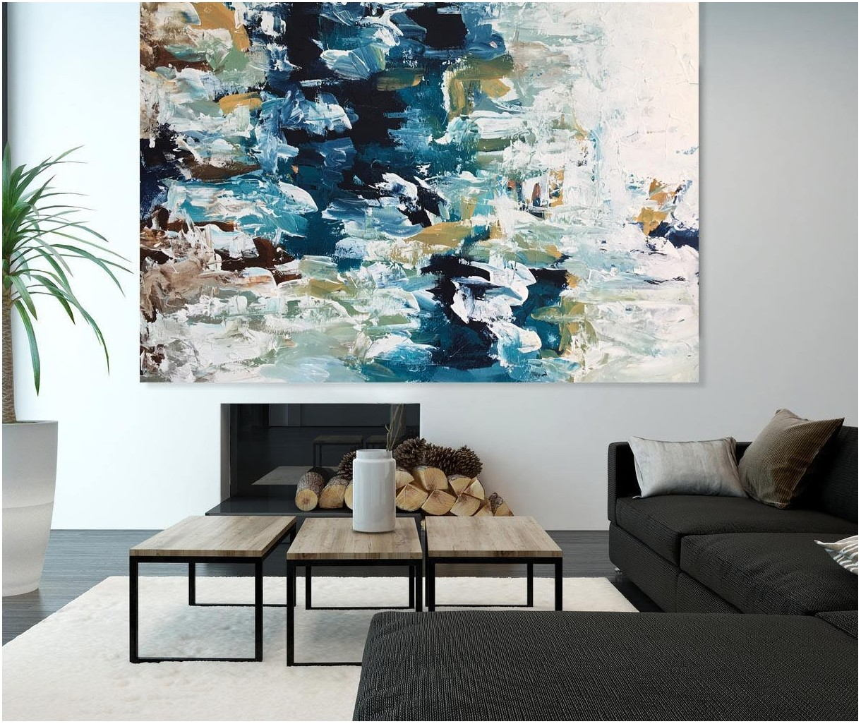 Living Room Abstract Oversized Oil Painting
