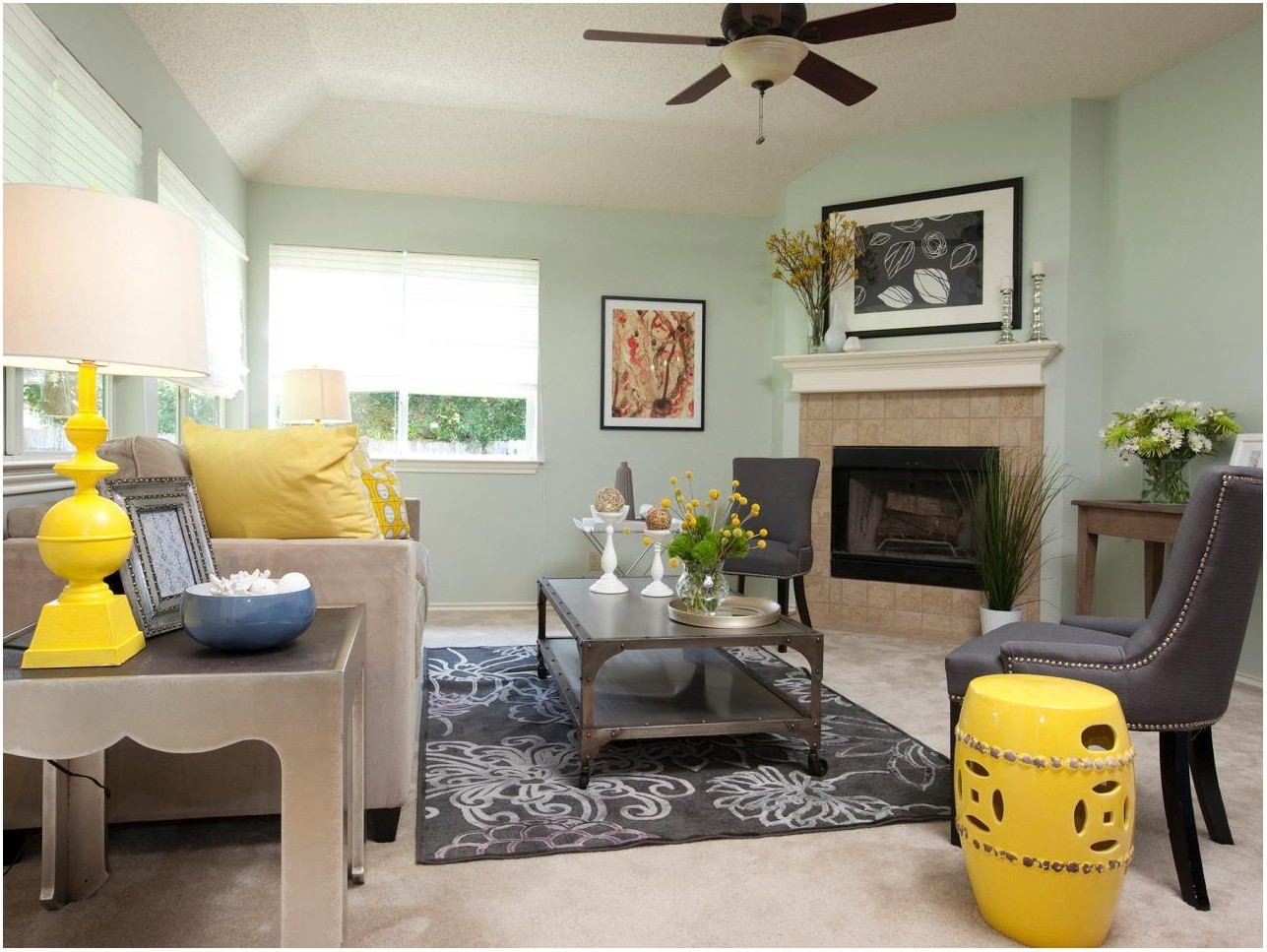 Mint Painted Living Room