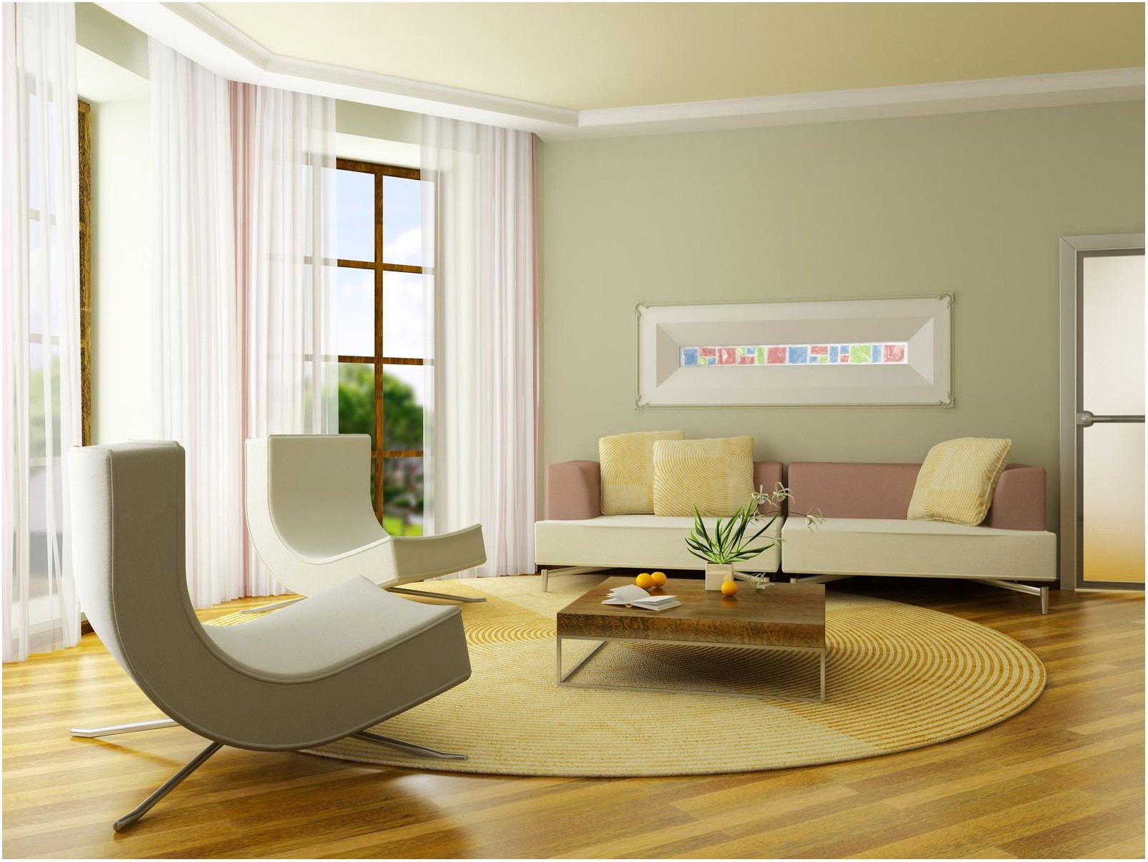Neutral Green Paint Colors For Living Room