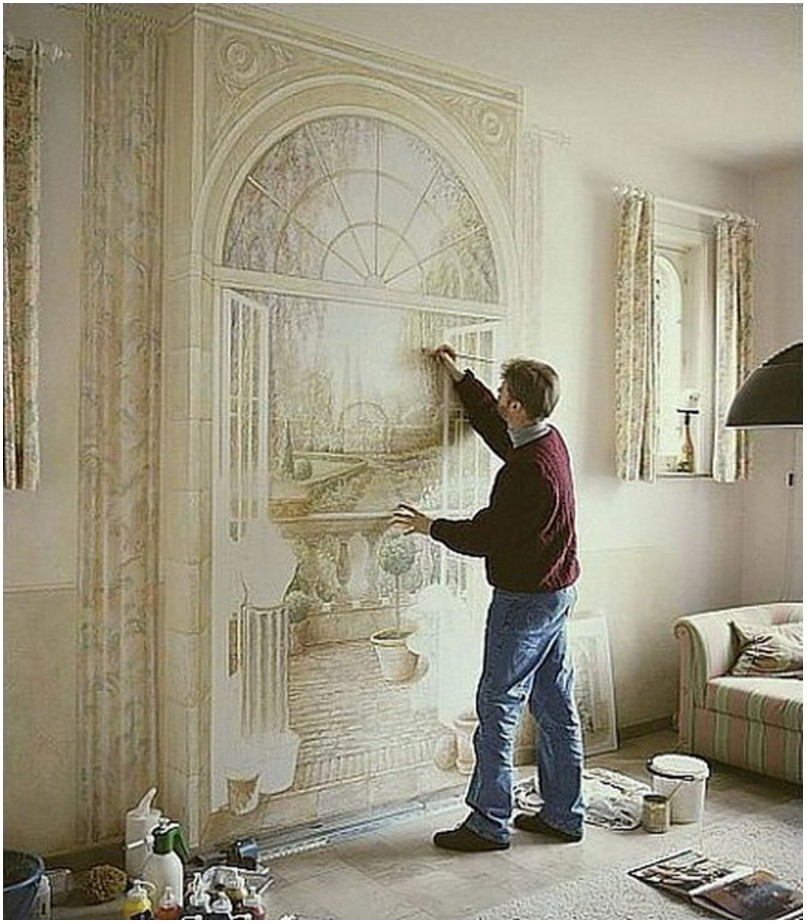 Painting Mural Living Room Wall