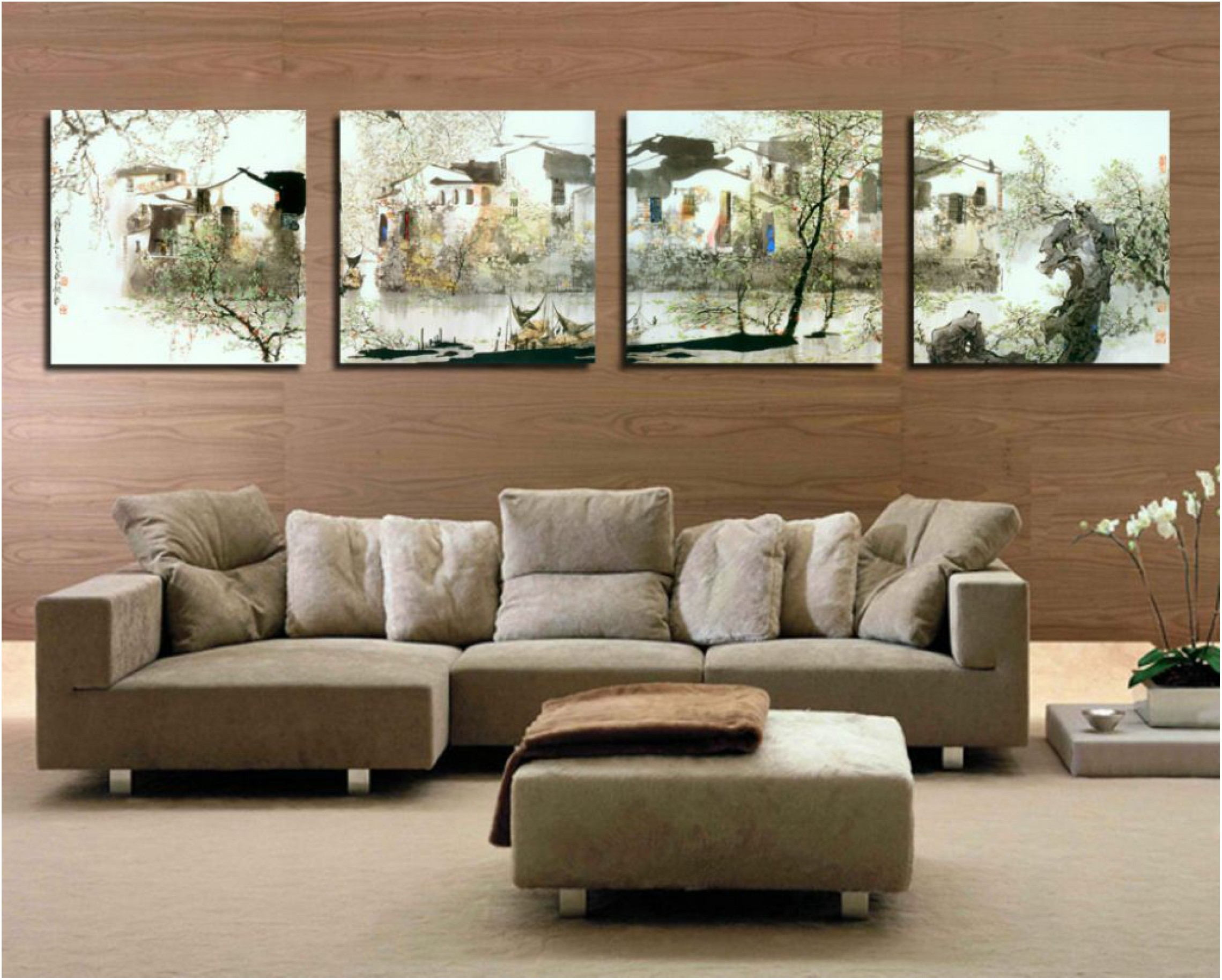 The Living Room Wall Painting And Decoration