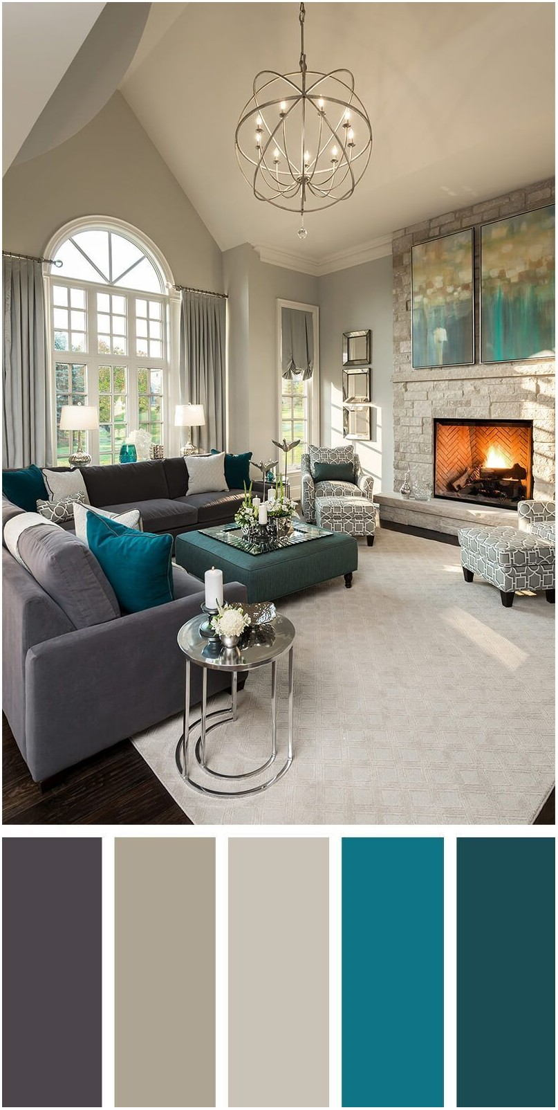 Transitional Living Room Paint Colors