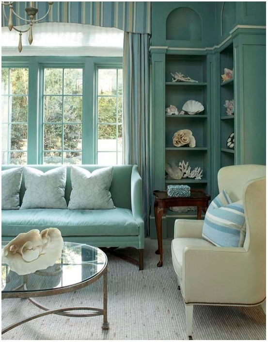 Turquoise Paint In Living Room