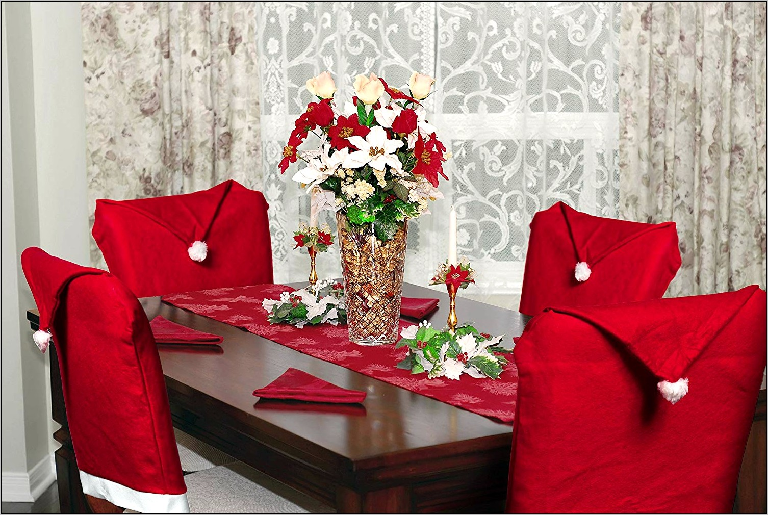 Christmas Dining Room Chair Decorations