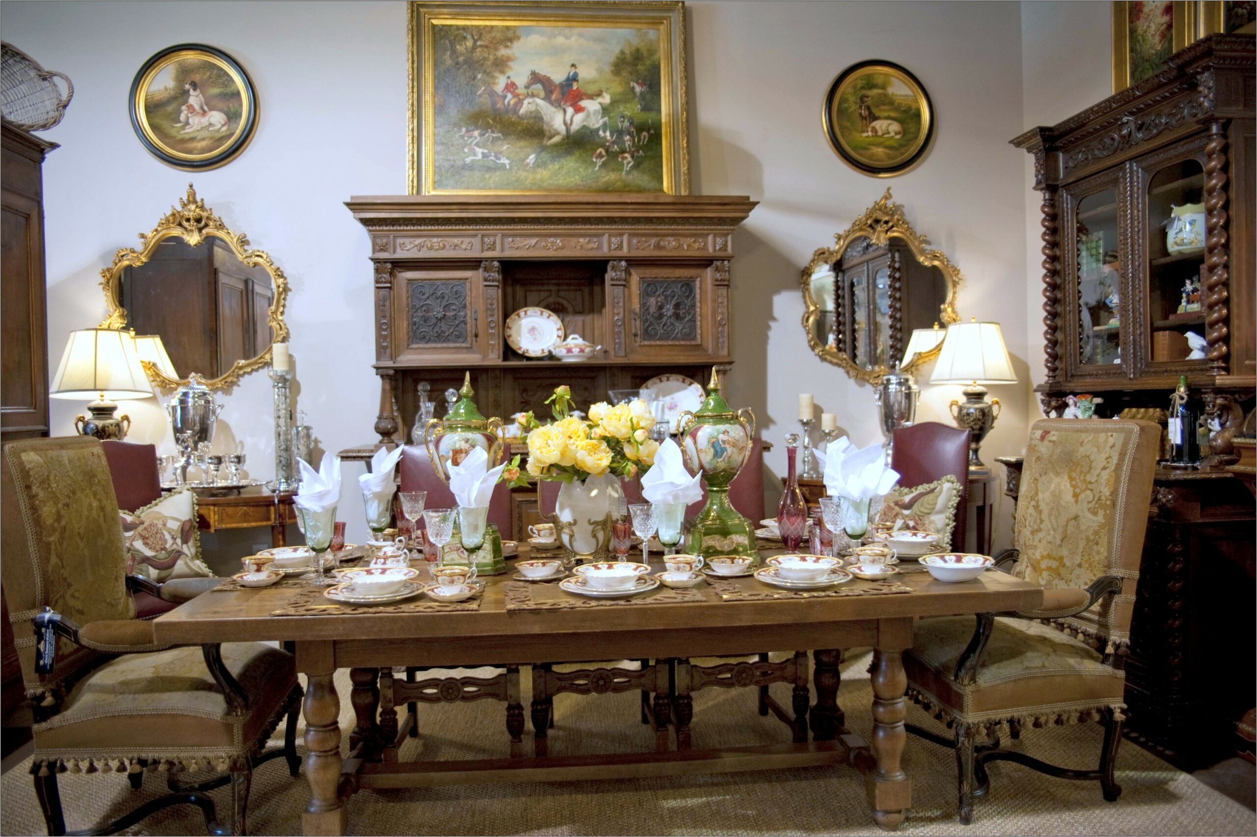 Country Dining Room Decorating Photos