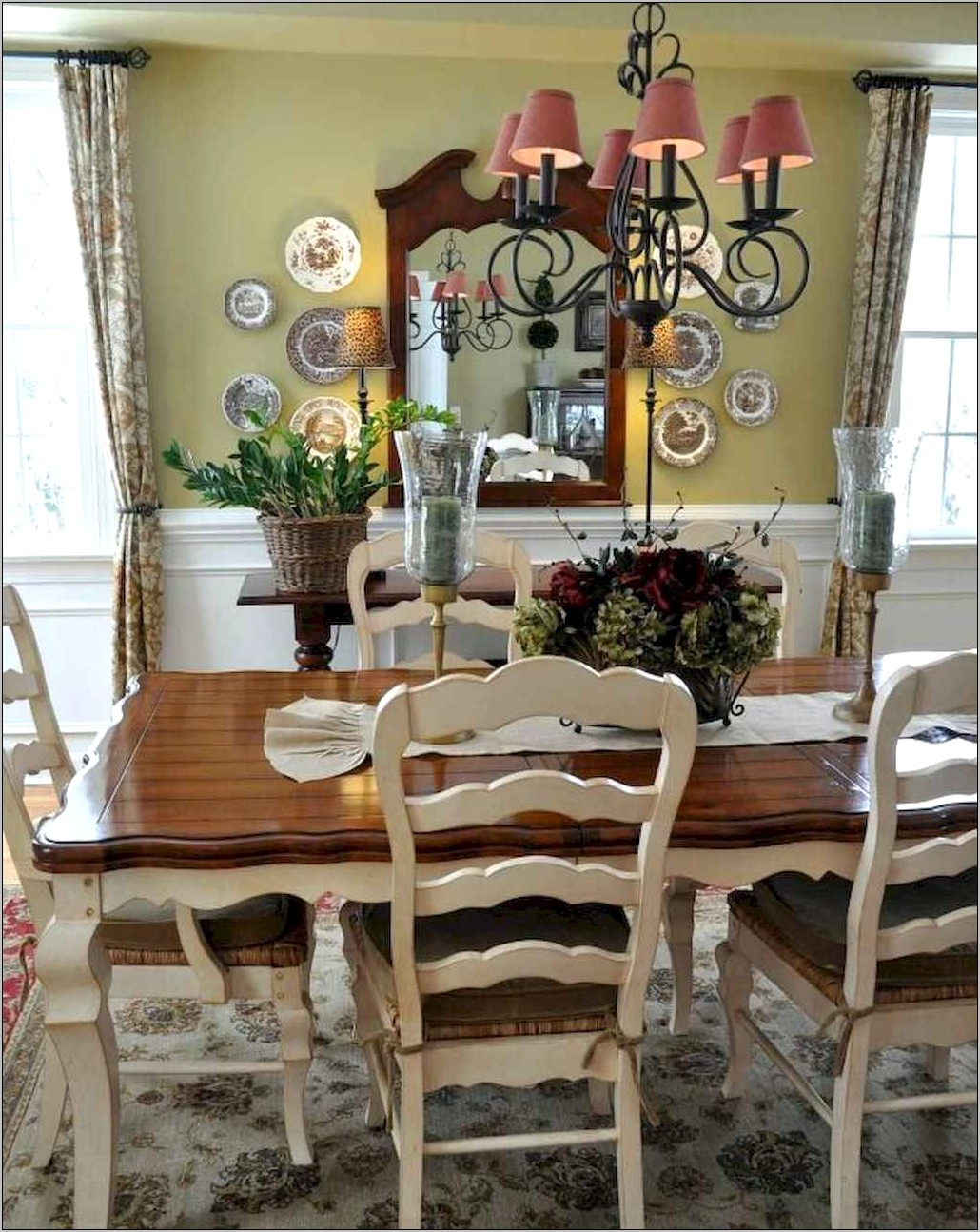 Country Dining Room Table Ideas