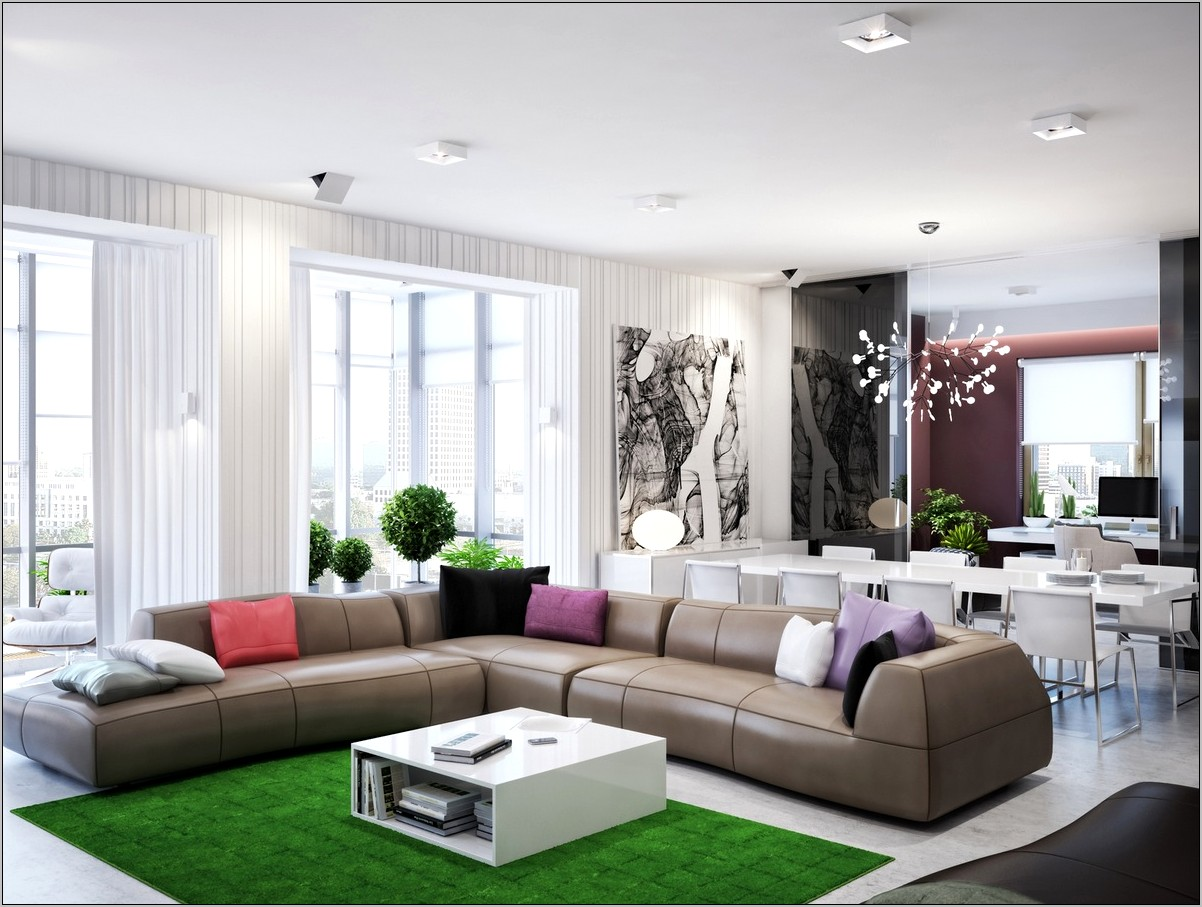 Decorate An L Shaped Living Dining Room