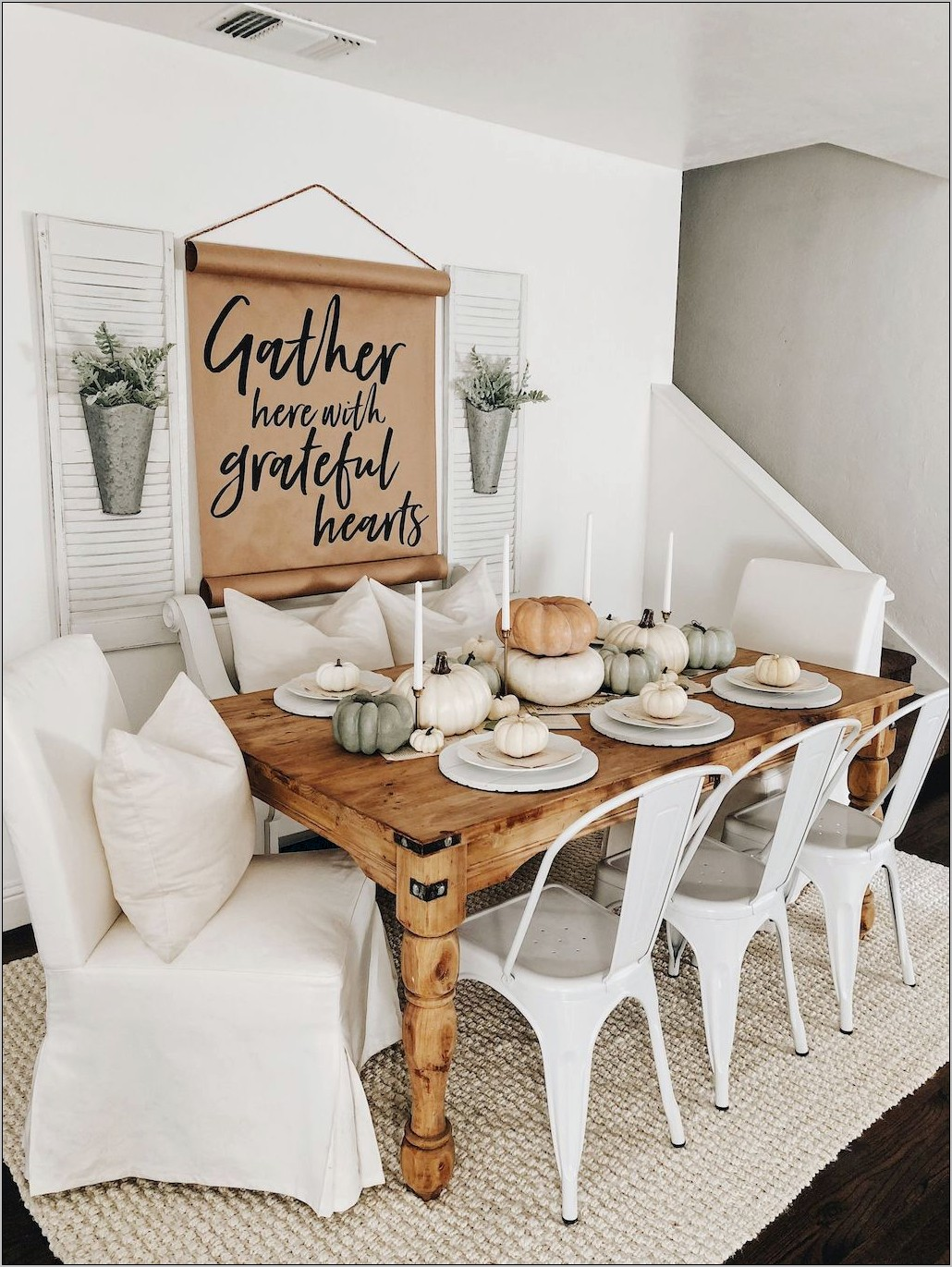 Decorating A Long Dining Room Wall Farmhouse