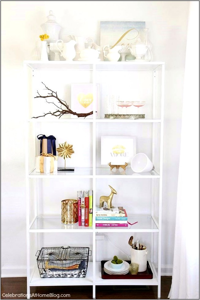 Decorating Open Shelves In Dining Room