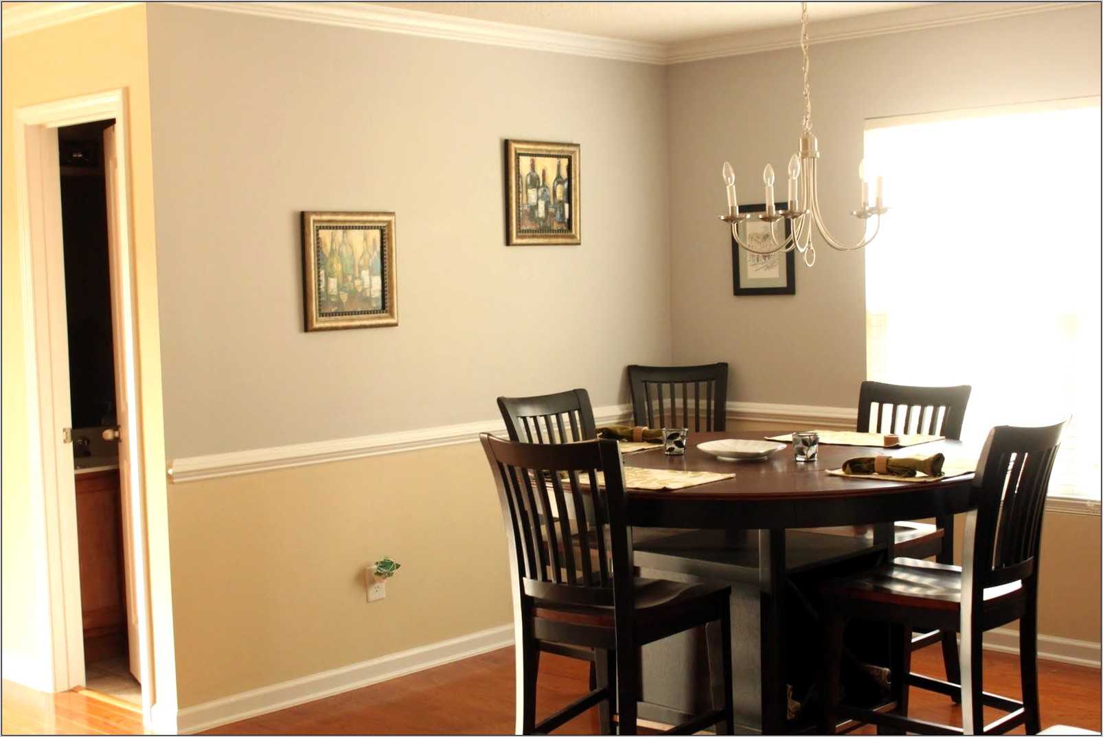 Dining Room Decor With Chair Rail