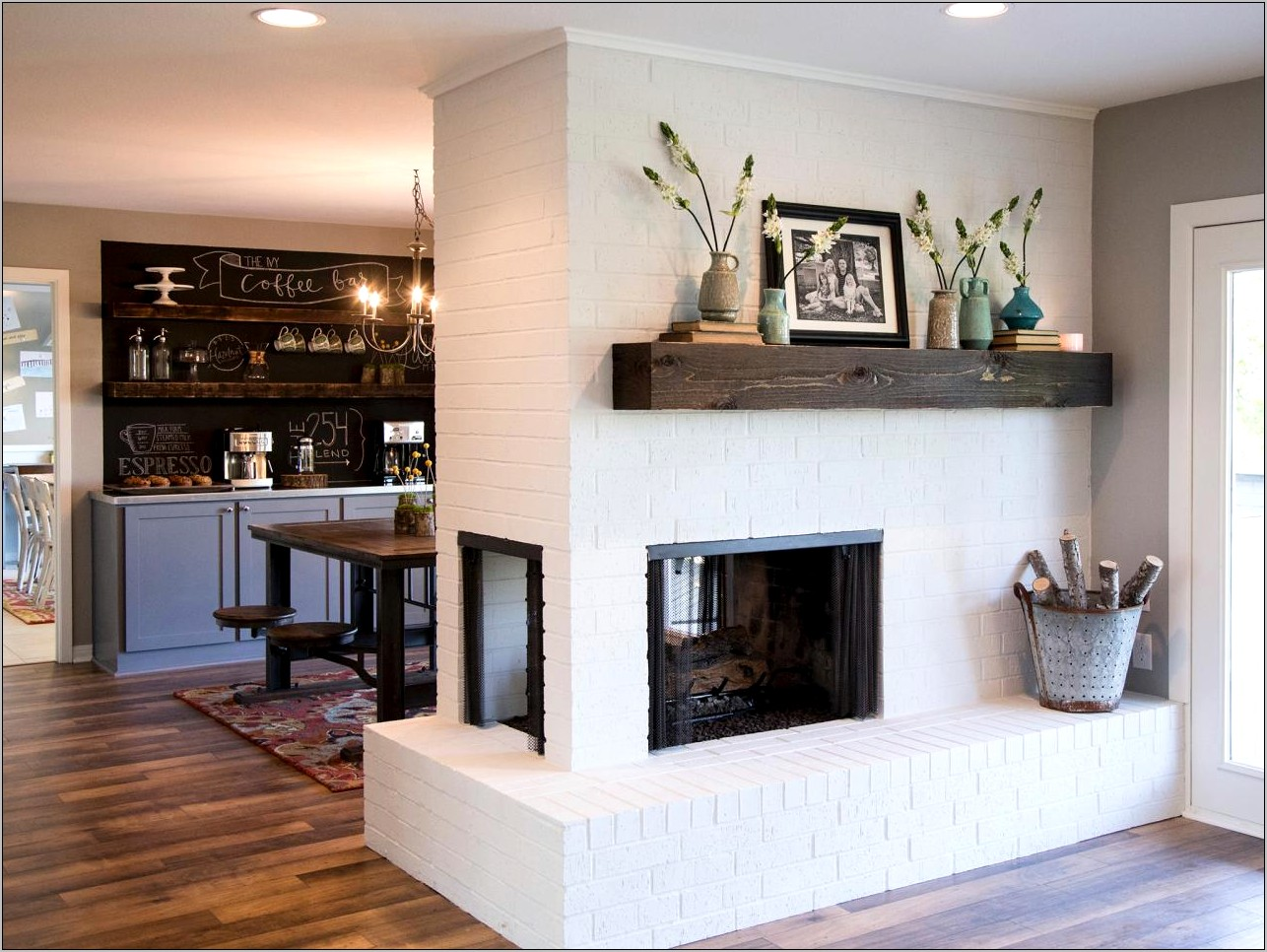 Dining Room Fireplace Update Ideas