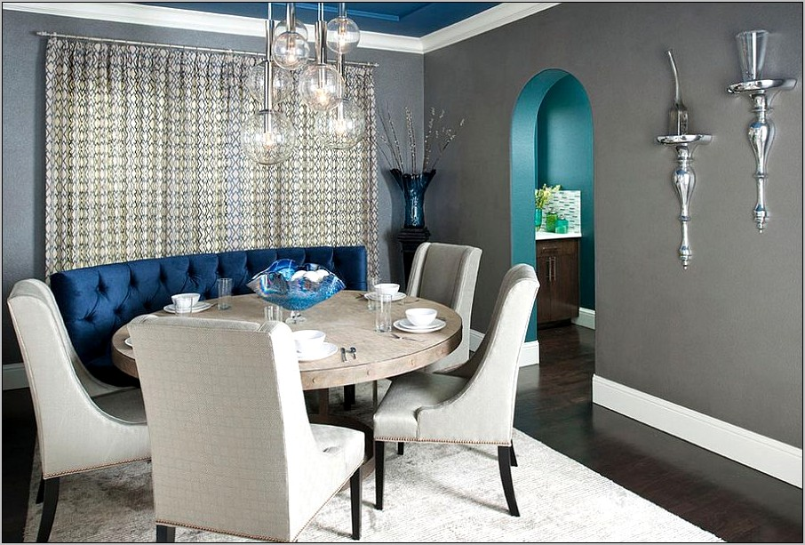 Gray And Blue Dining Room Ideas