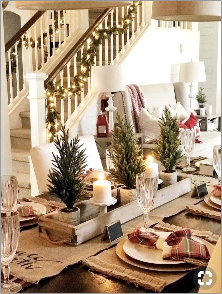 Long Wooden Box Dining Room Table Decoration