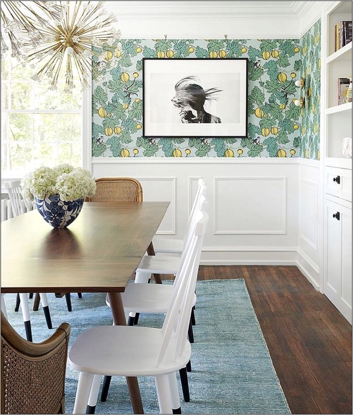 Lower Wood White Dining Room Idea