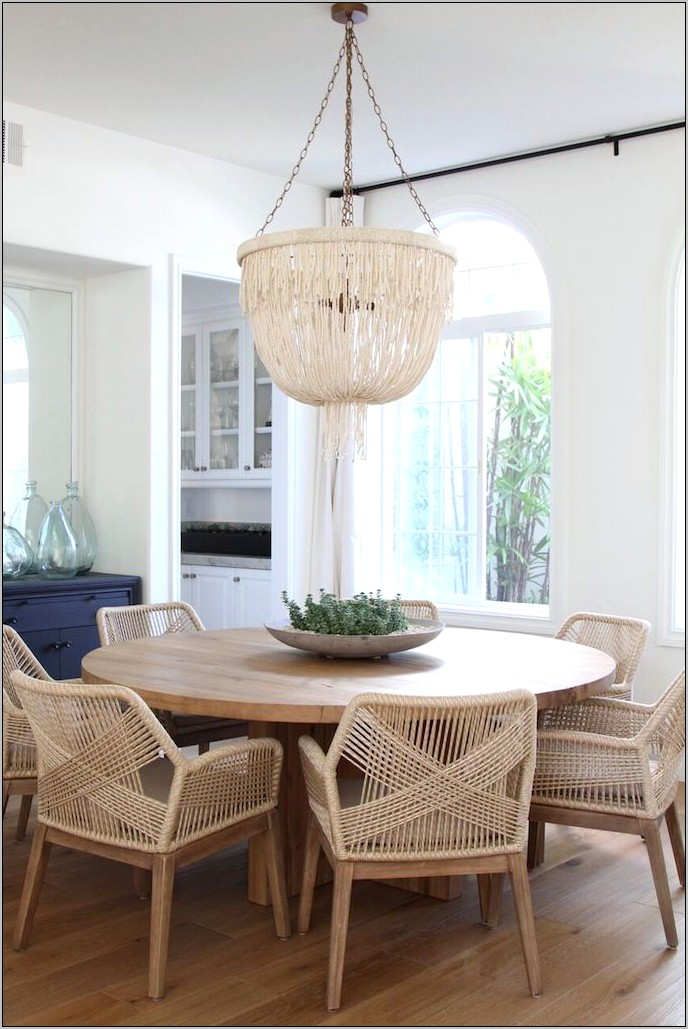 Natural Decor Dining Room Table