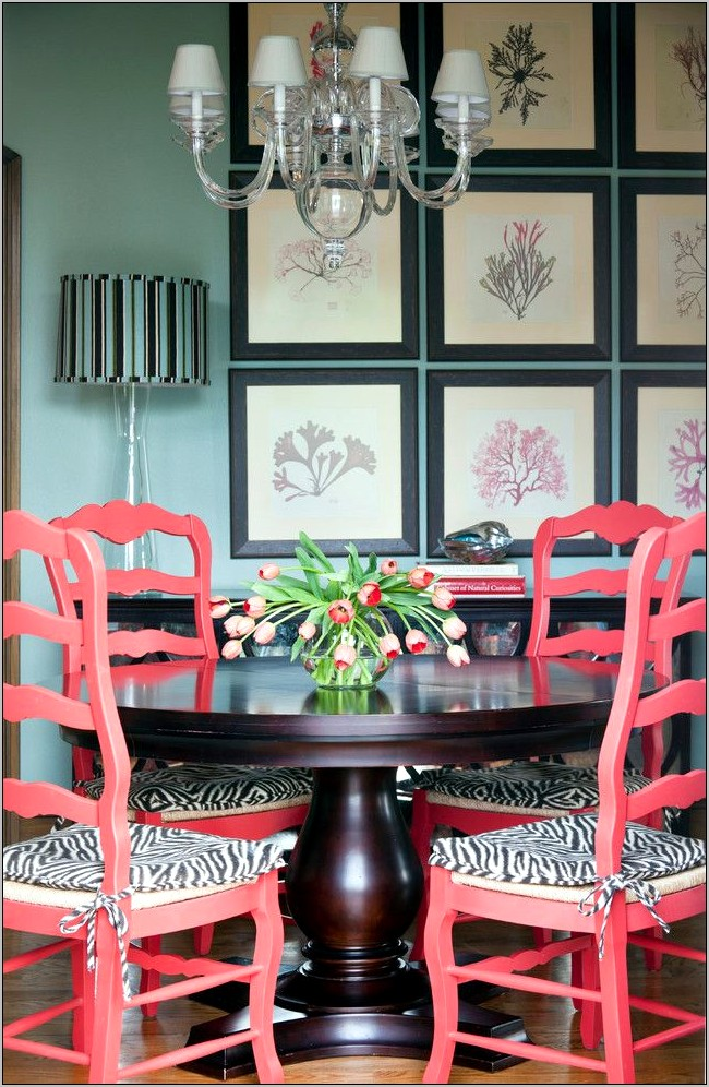 Pictures Of Dining Rooms Decorated In Coral