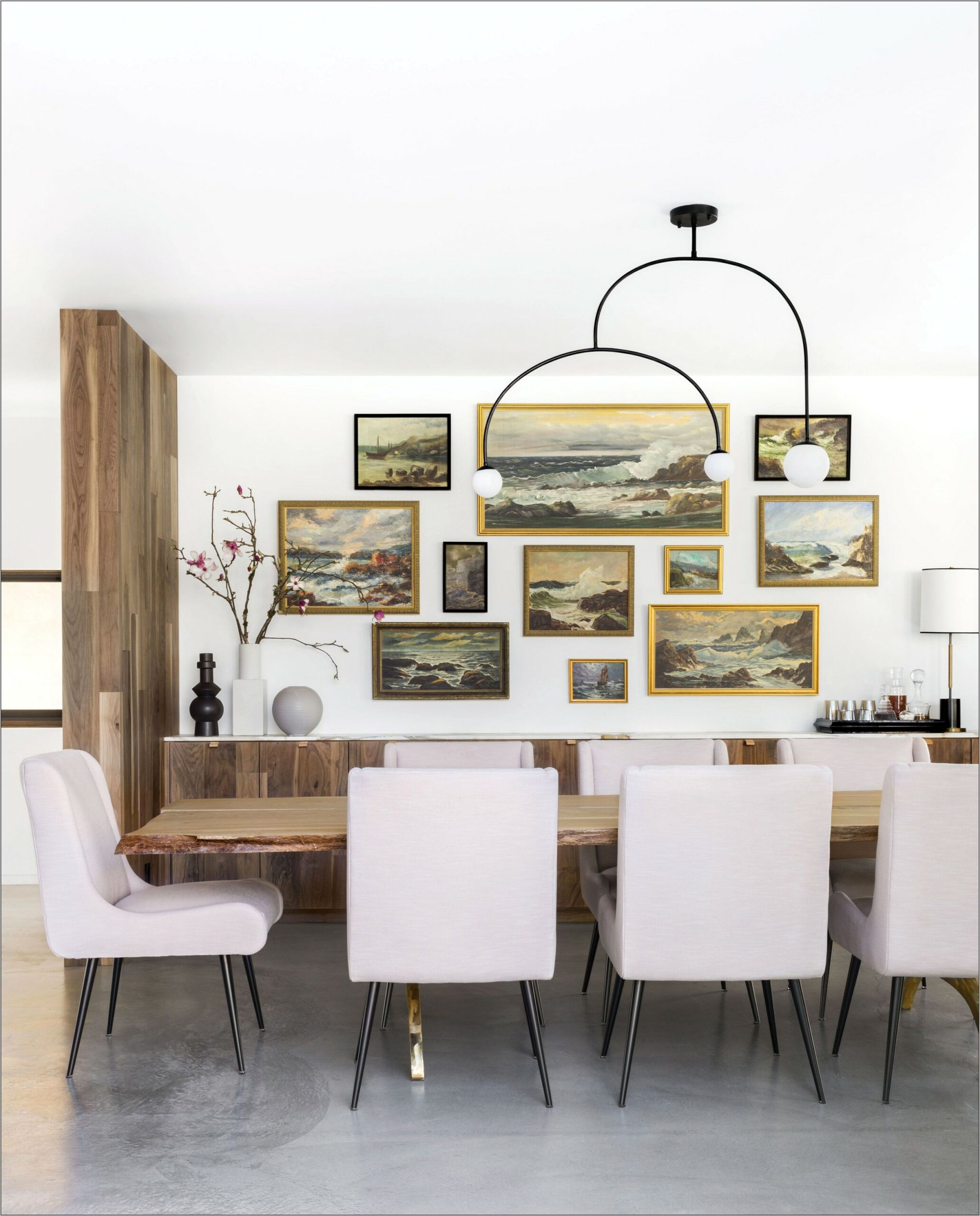 Residential Formal Dining Rooms With Buffet Decor