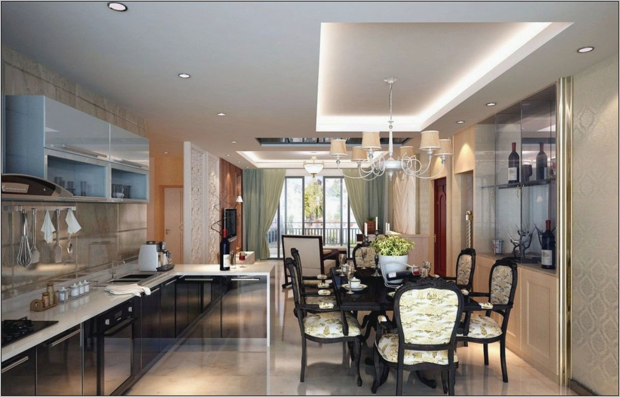 Small Kitchen With Dining Room Design Ideas