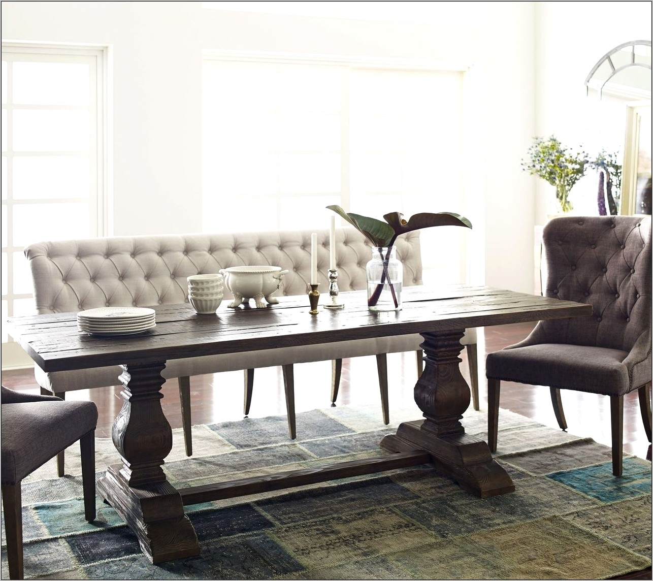 Tufted Bench Dining Room Decor