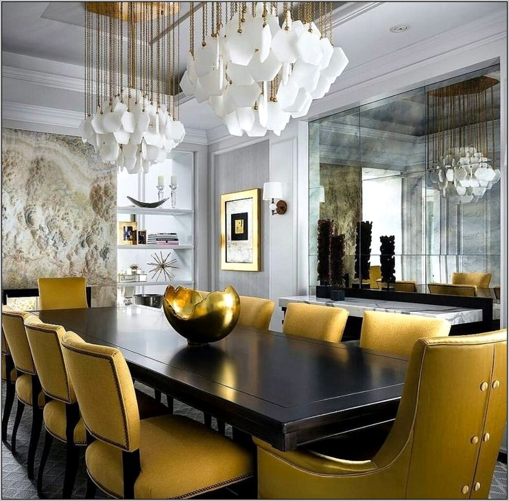 Yellow Chairs Dining Room Ideas