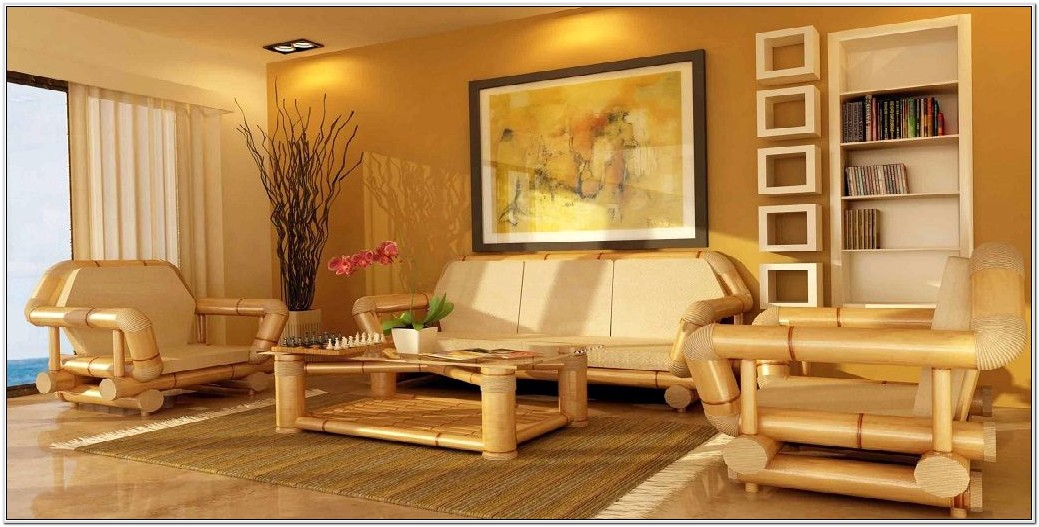 Bamboo Living Room Furniture Set With Cushion
