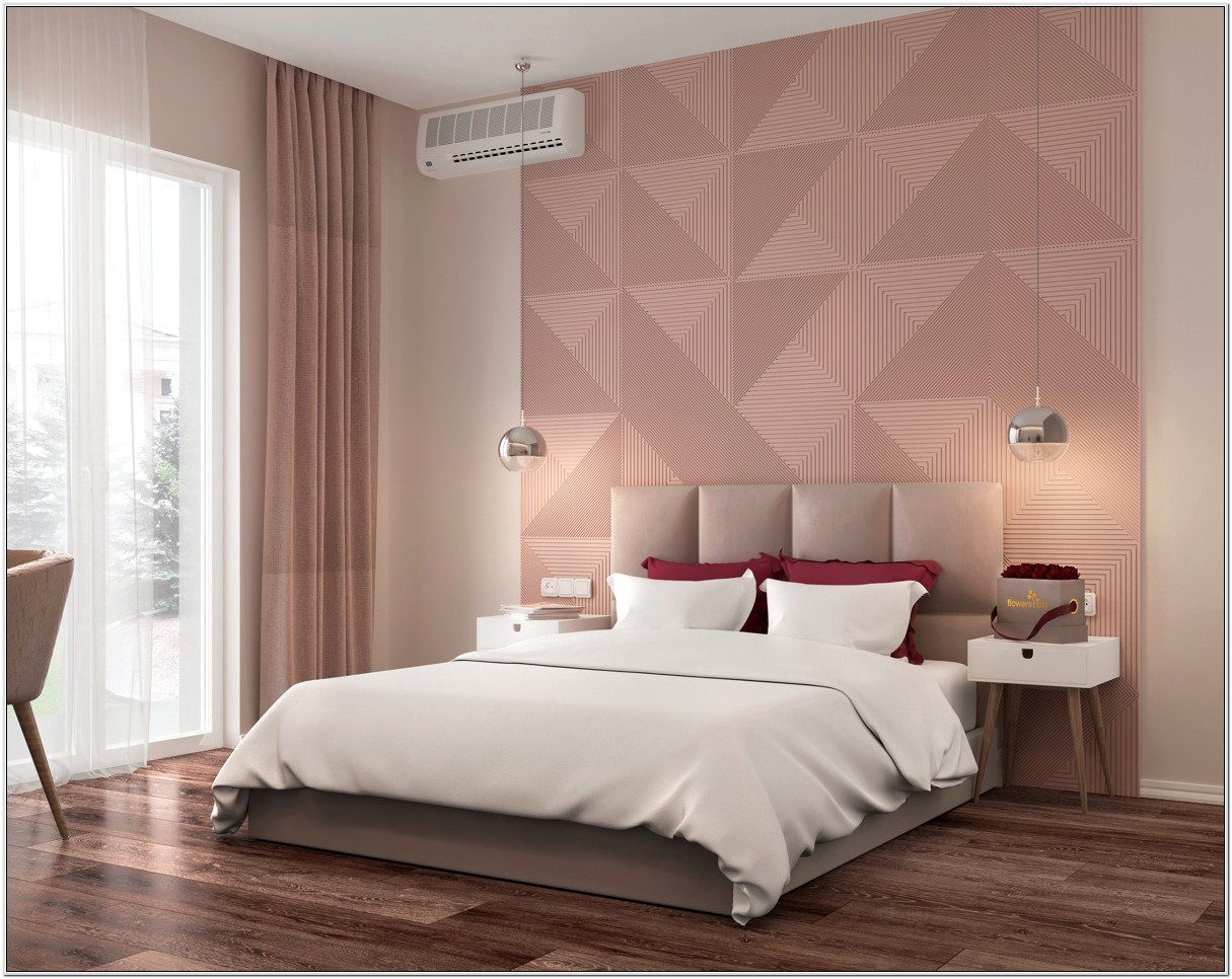 Bedroom Decor With Pink And Tan