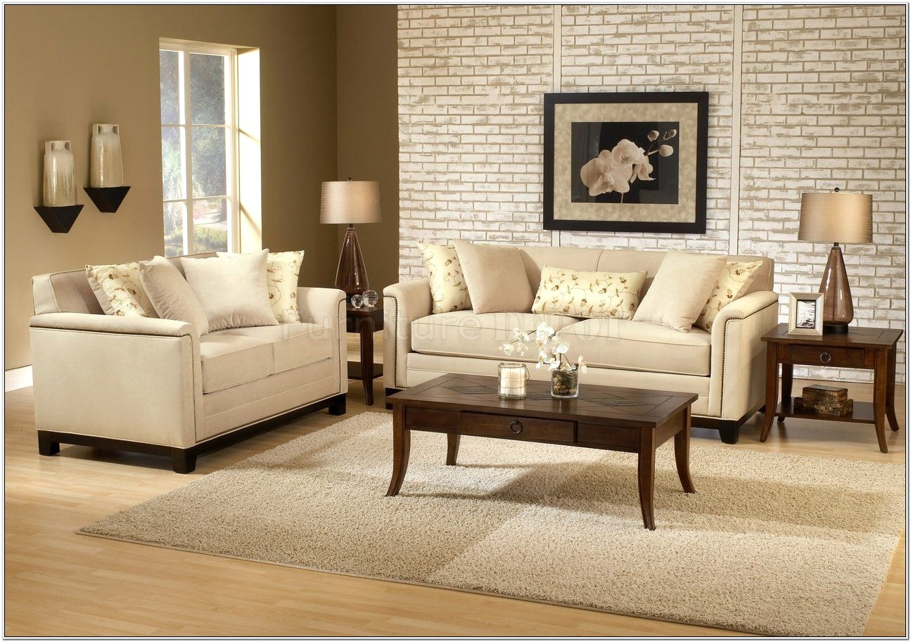 Beige Couches Living Room Design