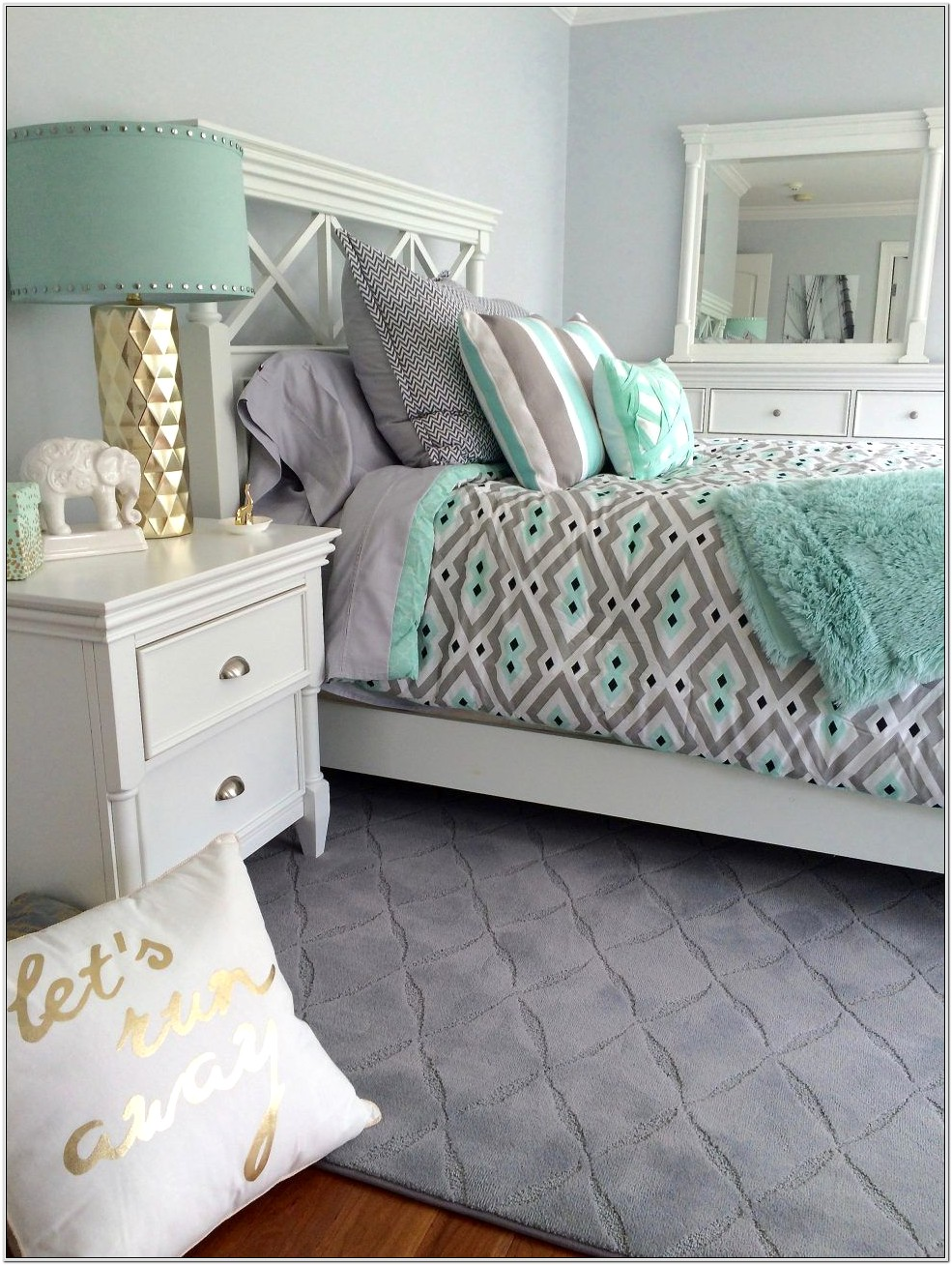 Blush Gold And Grey Decor Bedroom