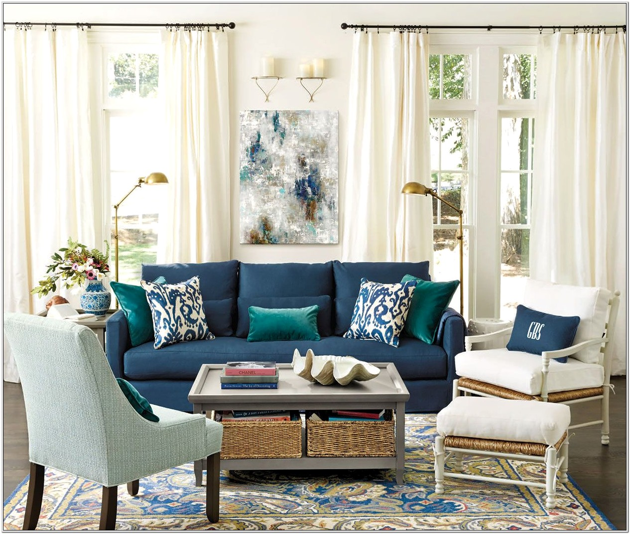 Bold Sofas In Small Living Room