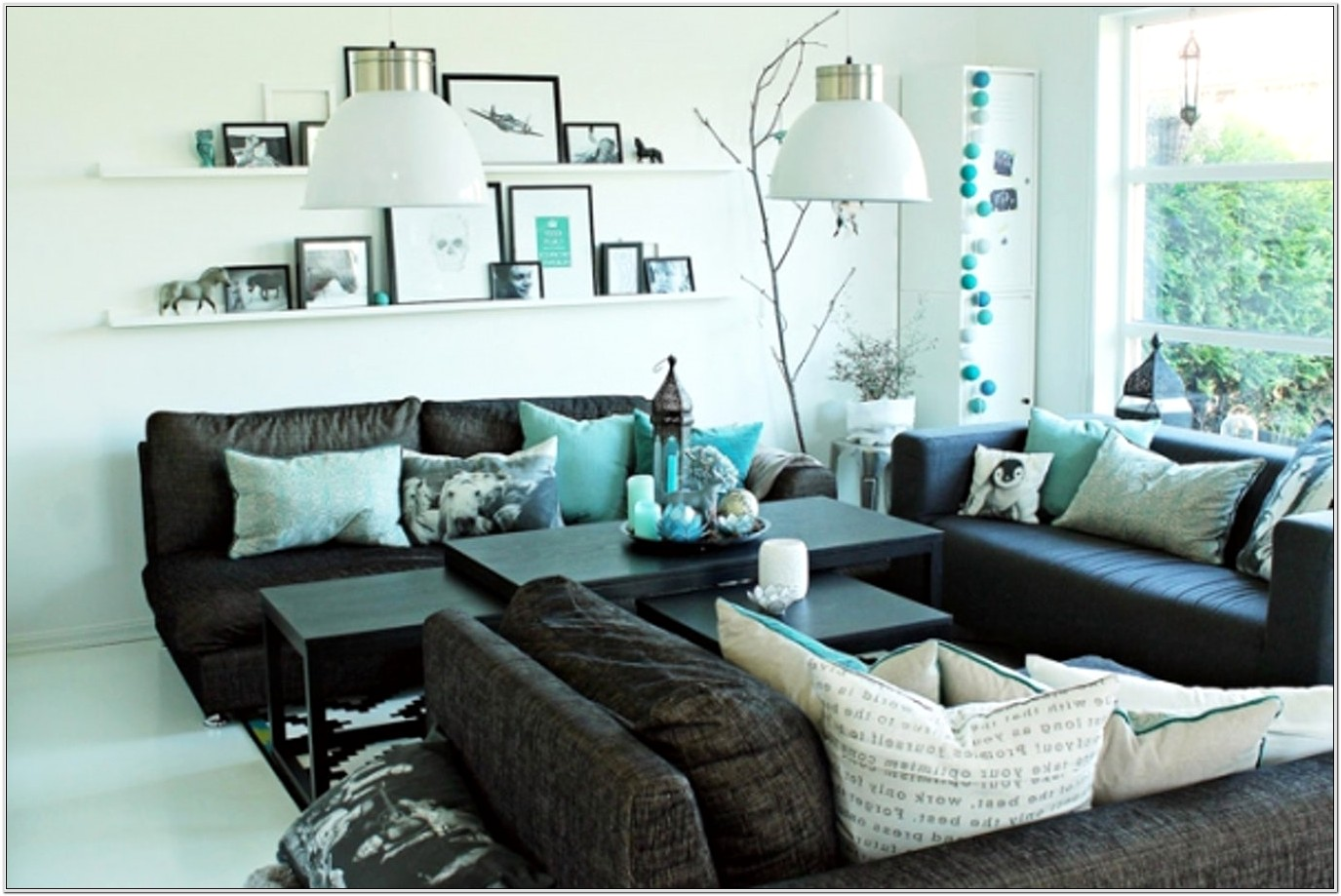 Brown Turquoise And Gray Living Room Ideas