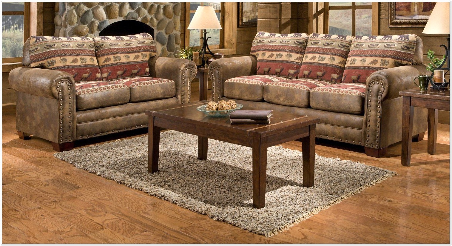 Cabin Living Room Couches Ideas