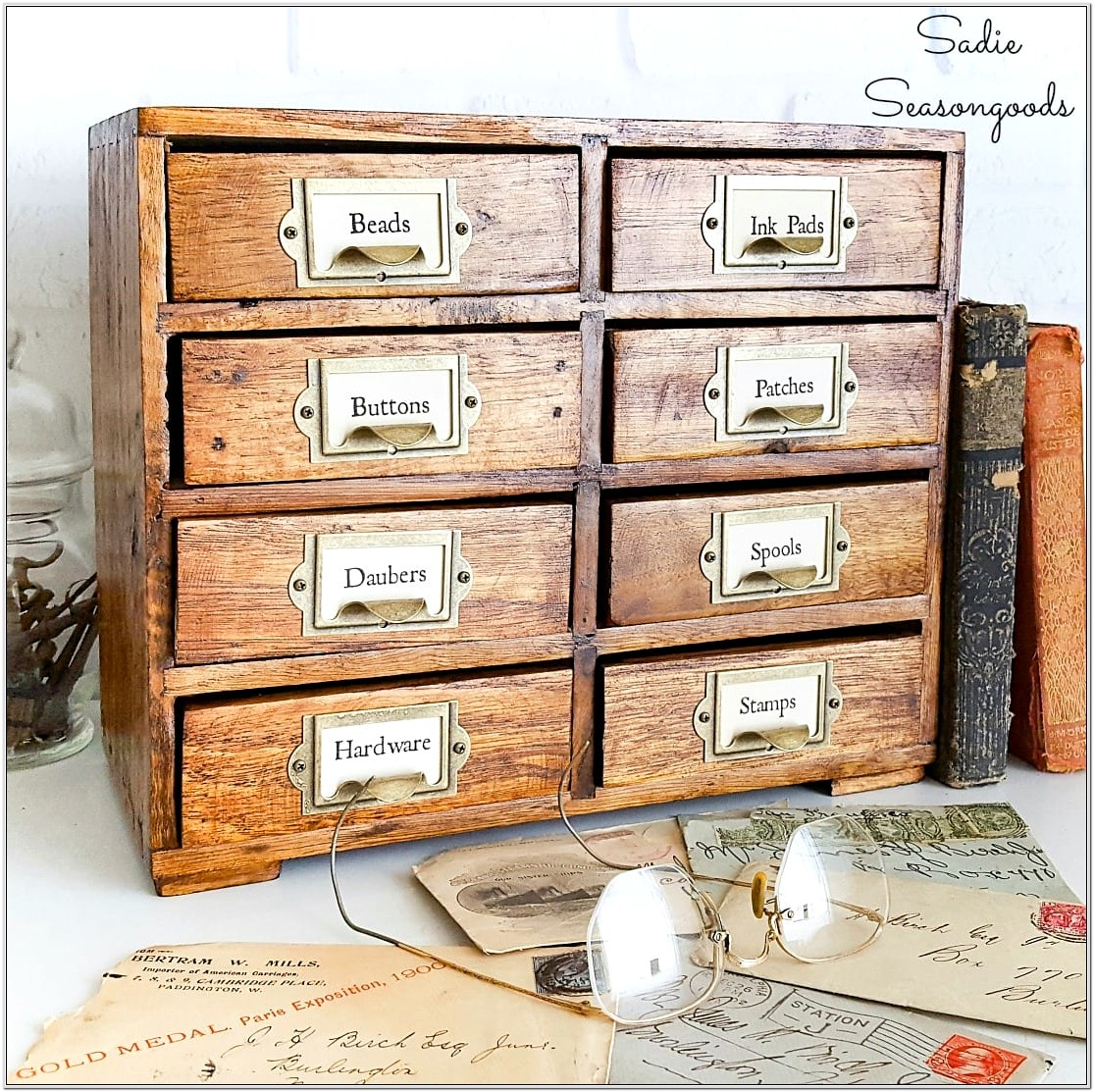 Card Catalog Living Room Small Chest