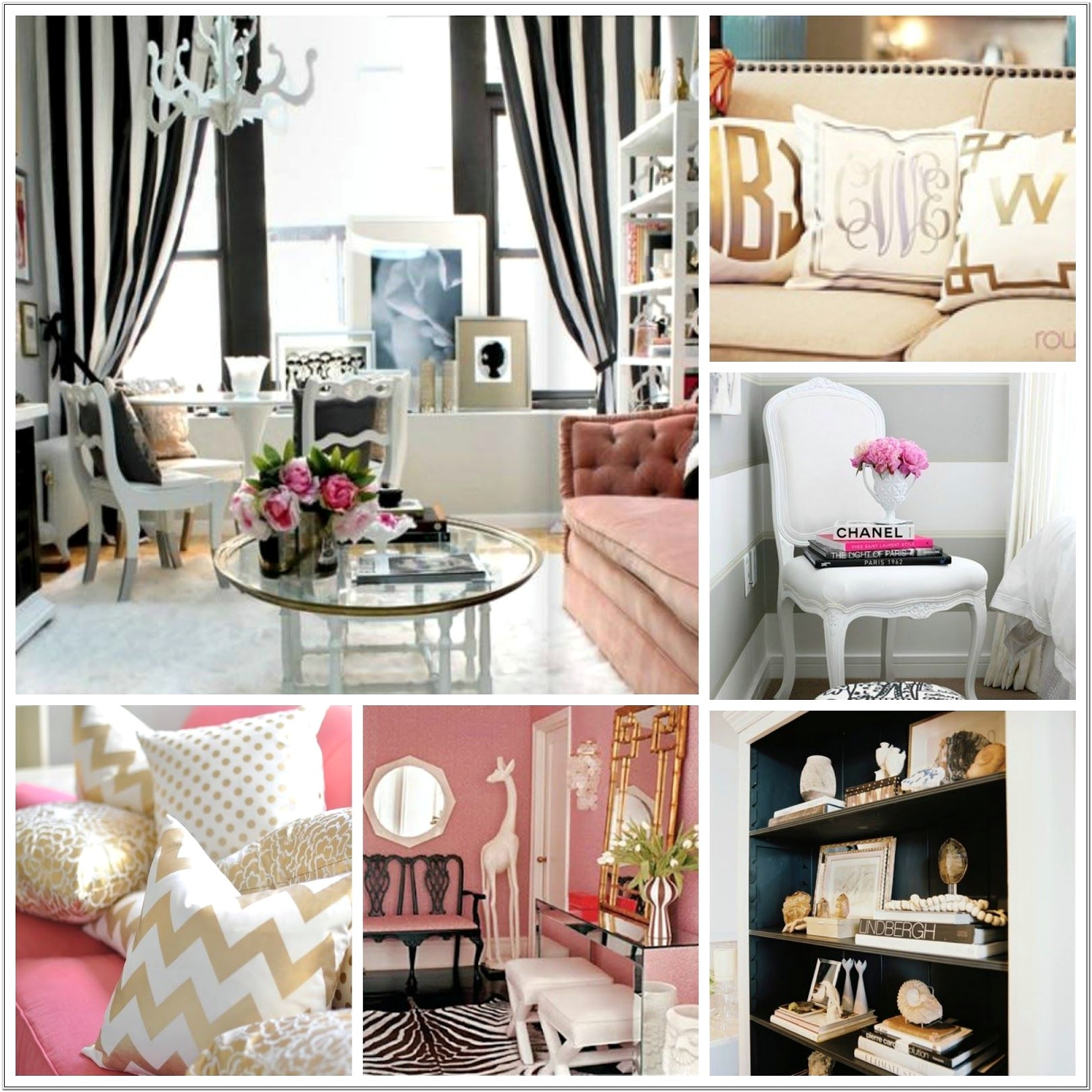 Chanel Bedroom Decor White Black And Gold